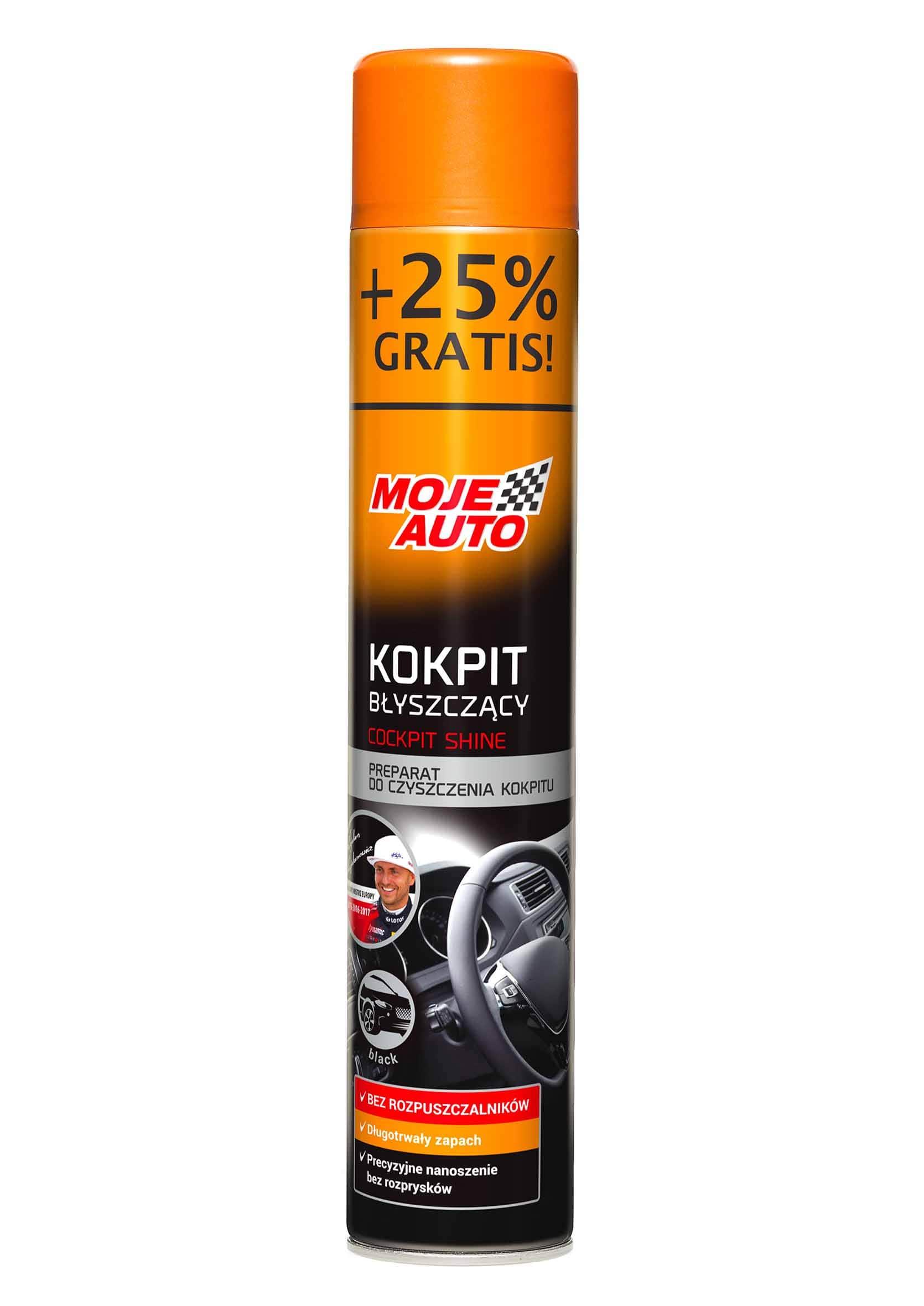 Moje Auto Kokpit Shine Black 750ml Spray do Plastików Wewnętrznych