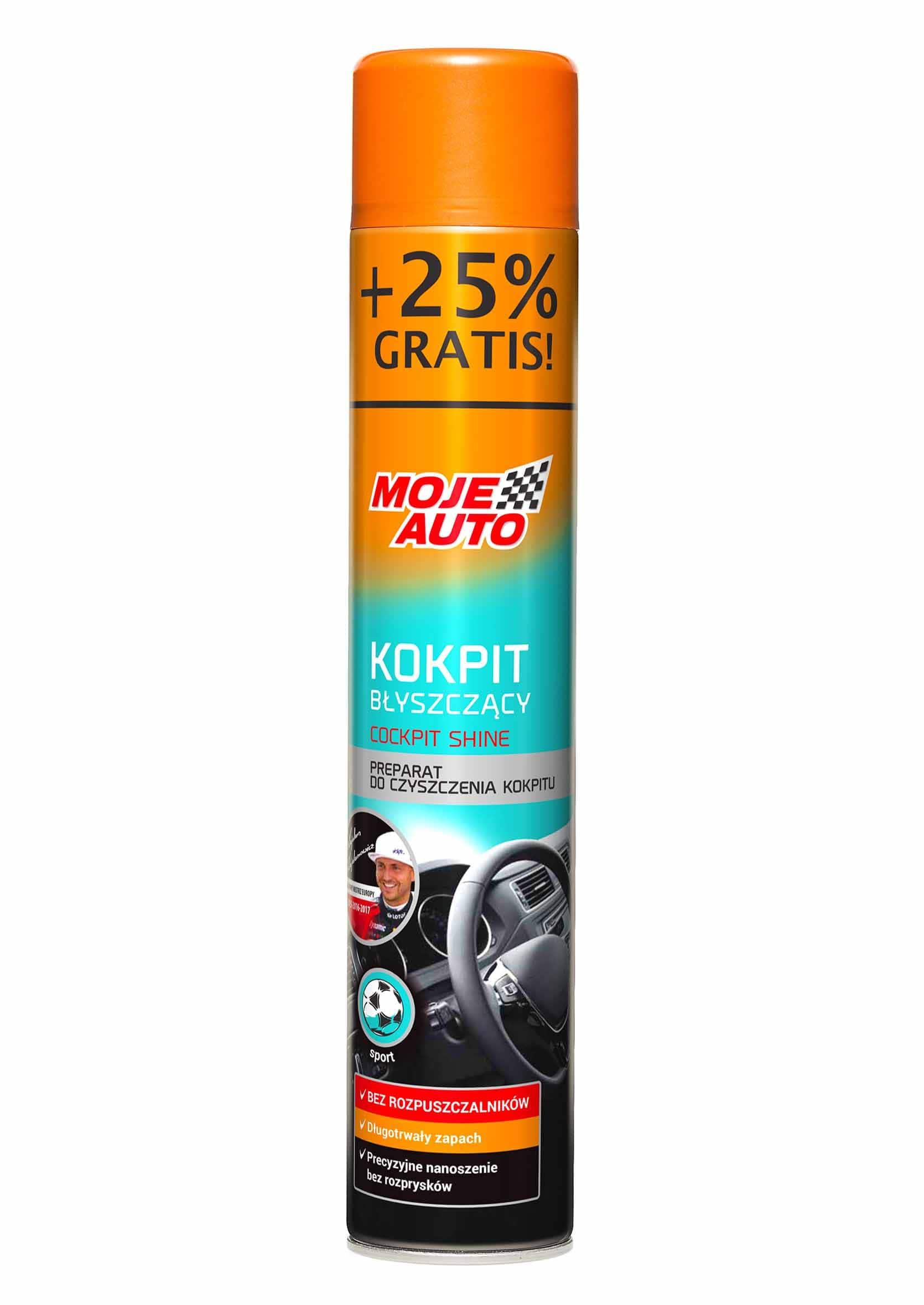 Moje Auto Kokpit Shine Sport 750ml Spray do Plastików Wewnętrznych