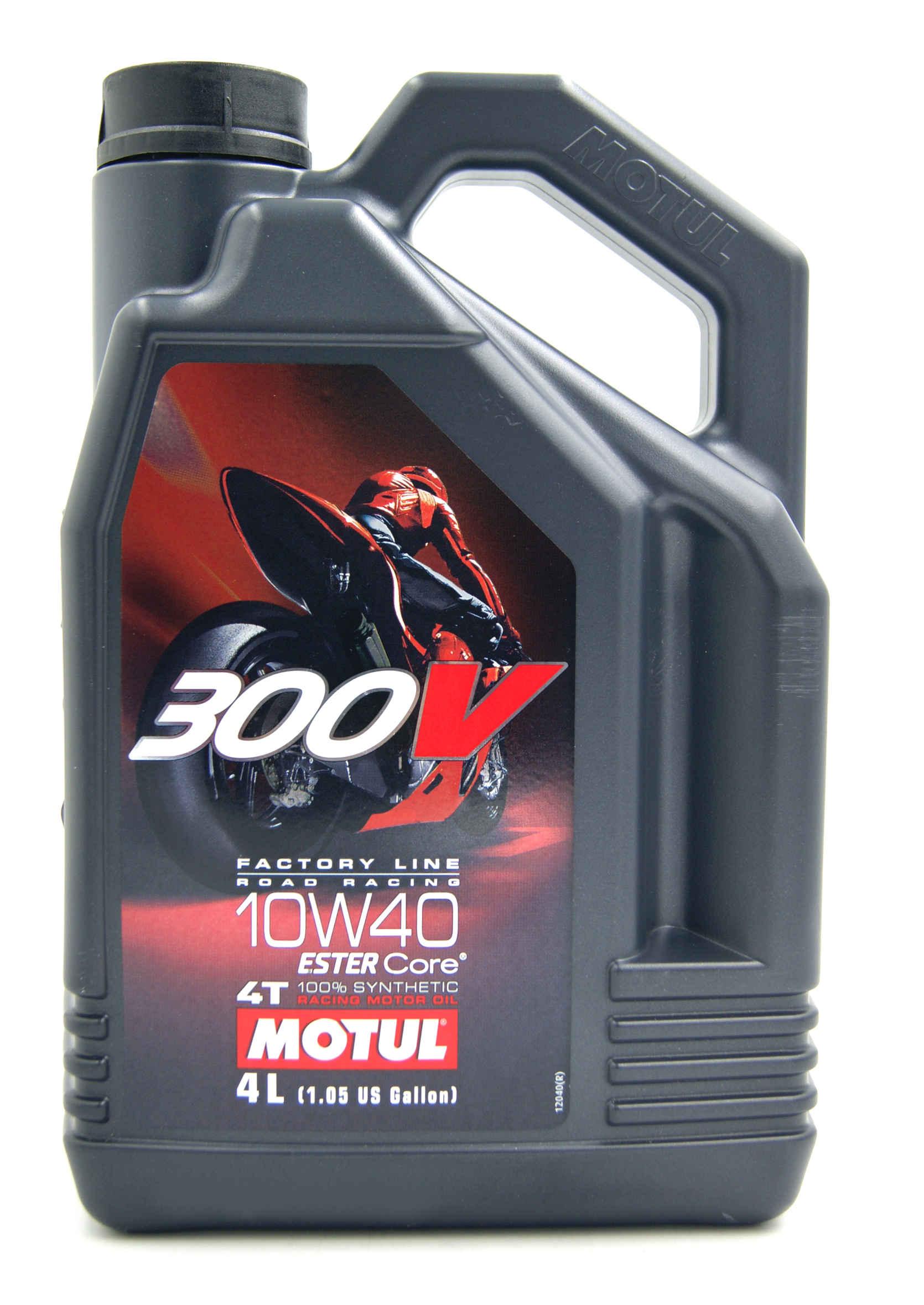 Motul 300V Factory Line Road Racing 4T 10W40 4L Olej Silnikowy Syntetyczny Motocyklowy