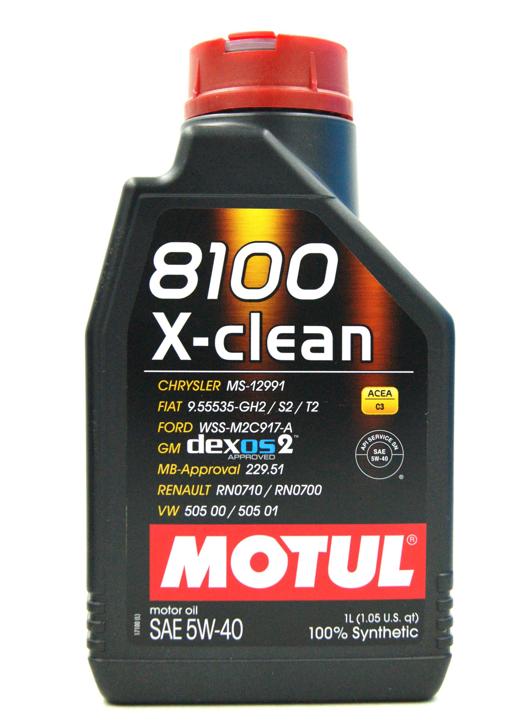Motul 8100 X-Clean C3 5W40 1L Olej Silnikowy Syntetyczny