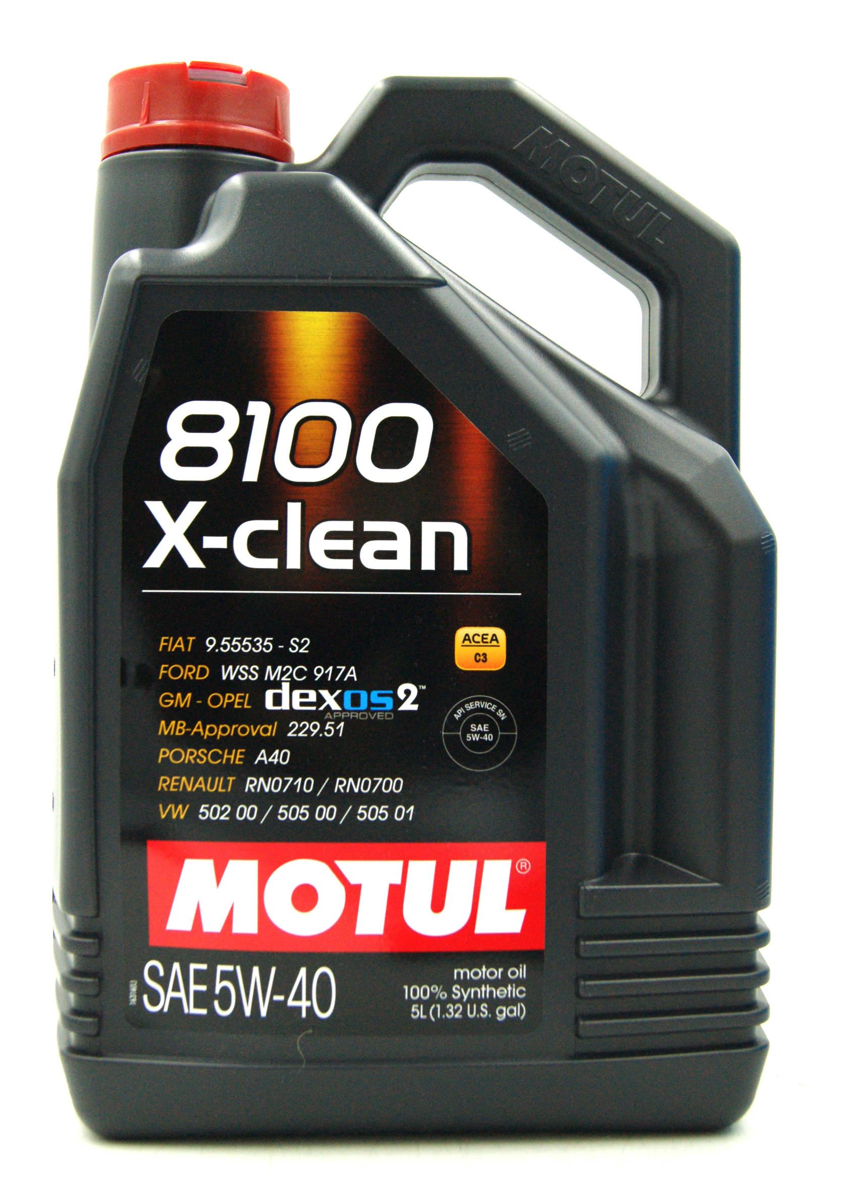 Motul 8100 X-Clean C3 5W40 5L Olej Silnikowy Syntetyczny