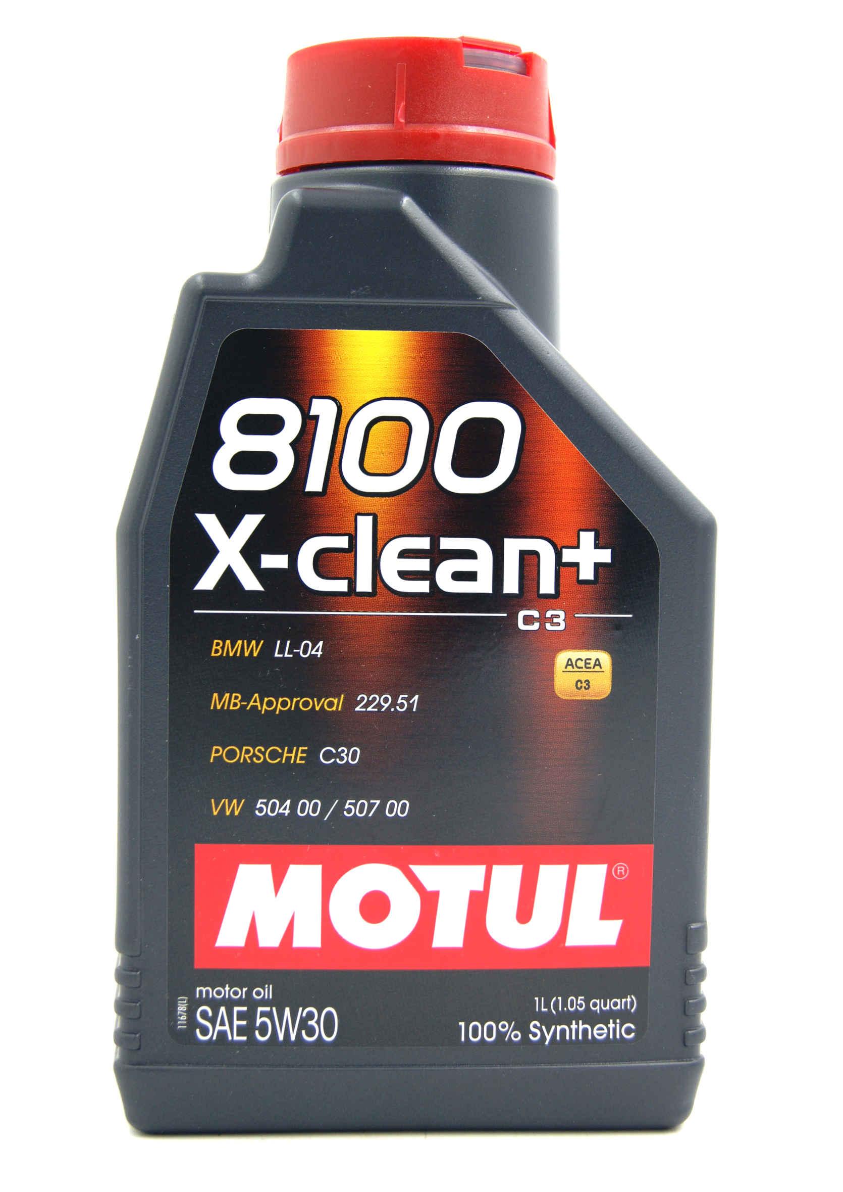 Motul 8100 X-Clean+ 5W30 1L Olej Silnikowy Syntetyczny