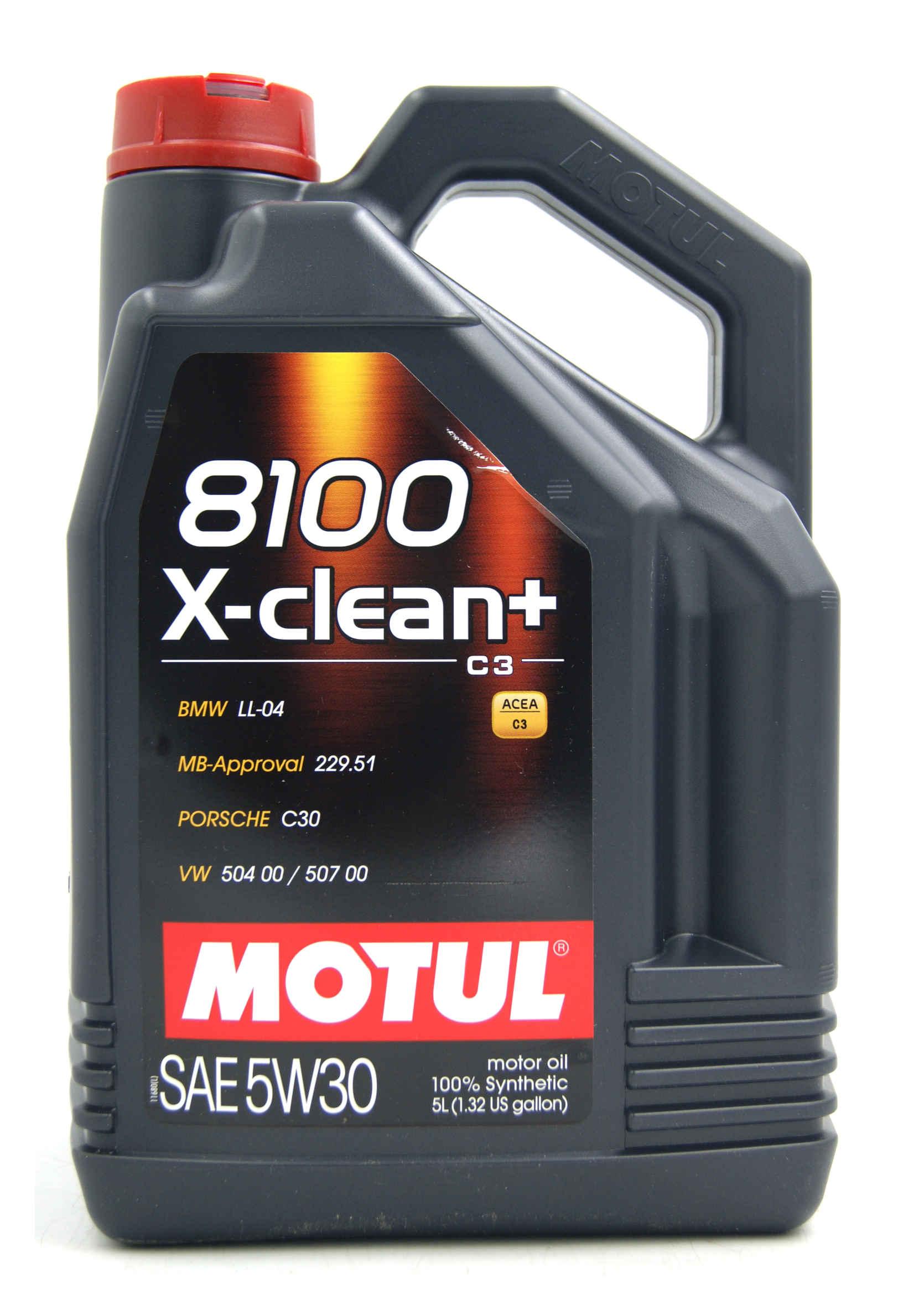 Motul 8100 X-Clean+ 5W30 5L Olej Silnikowy Syntetyczny