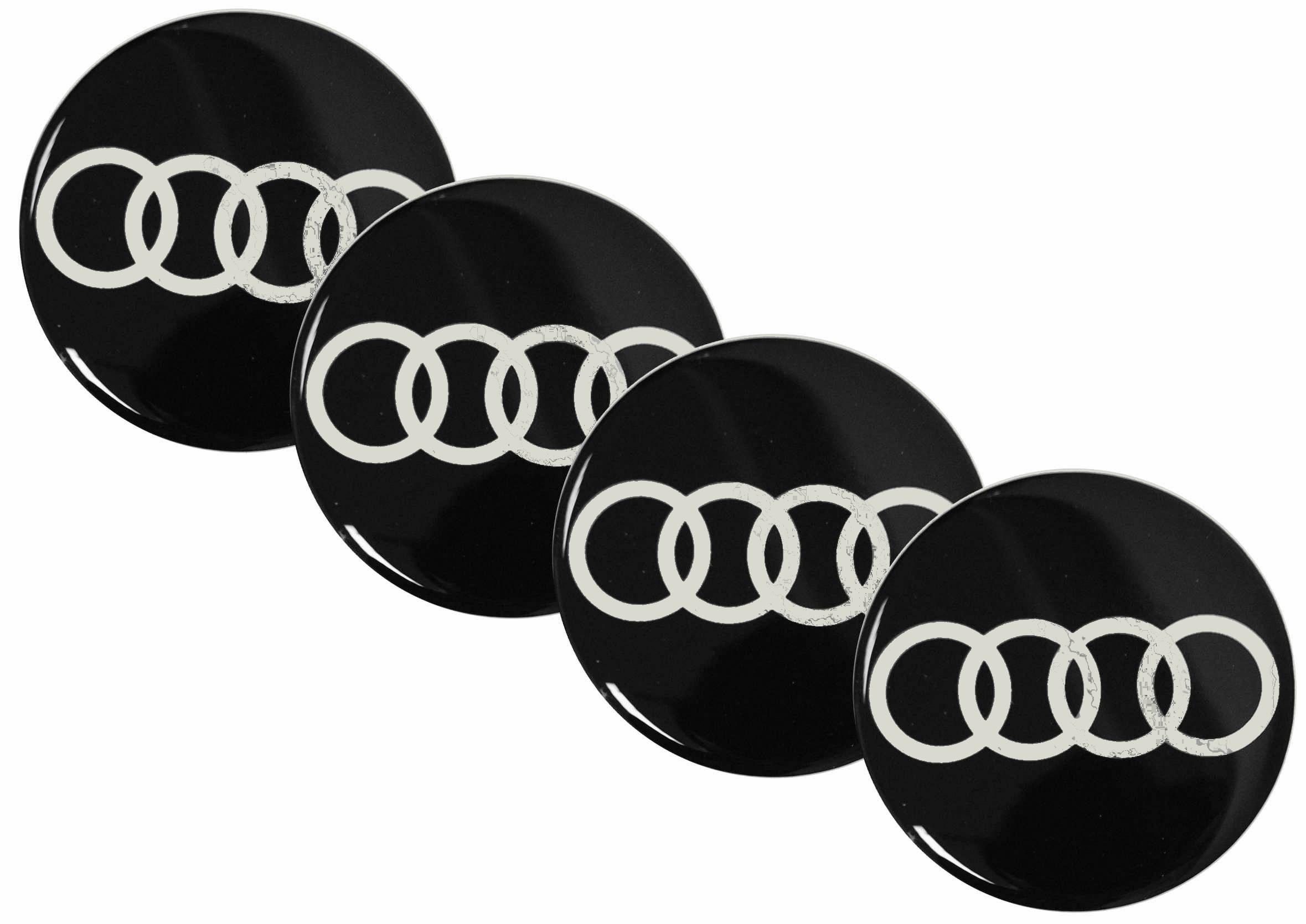 Emblematy Naklejki Wypukłe Audi 55mm 4szt