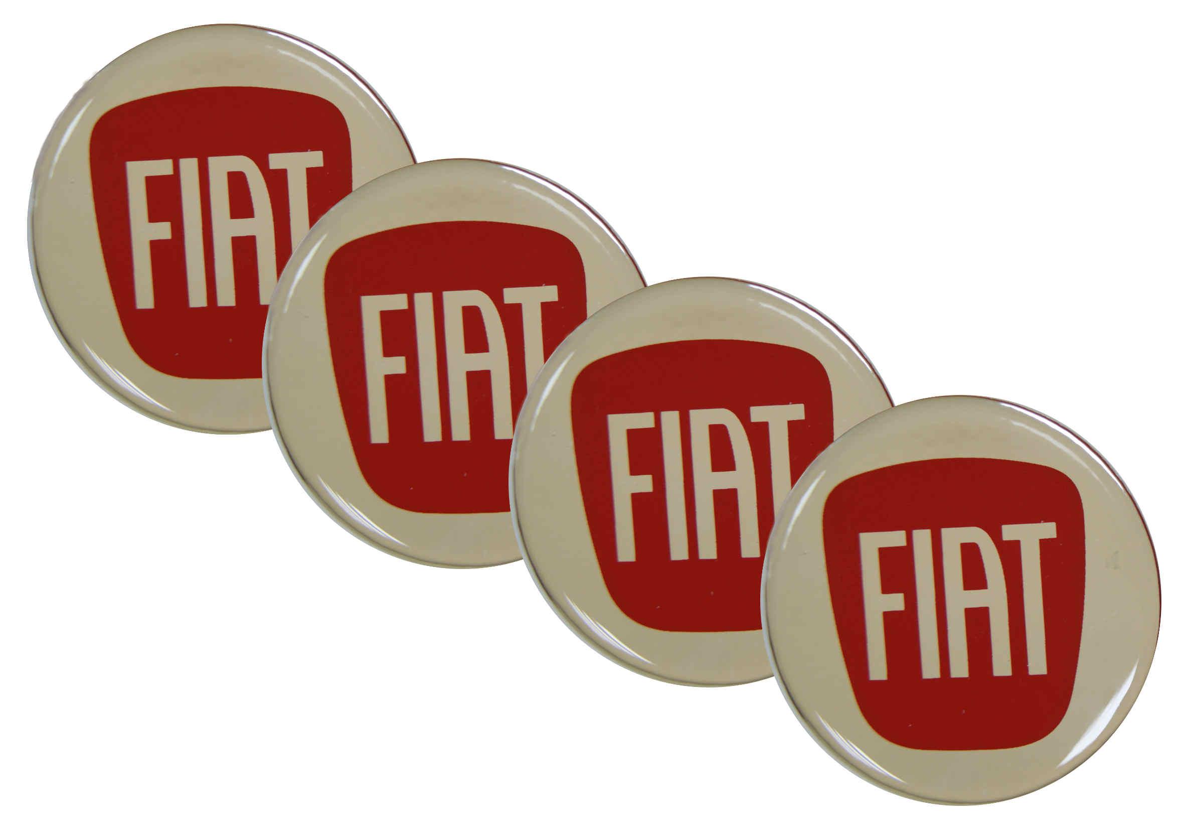 Naklejki wypukłe Emblematy Fiat 55mm 4szt