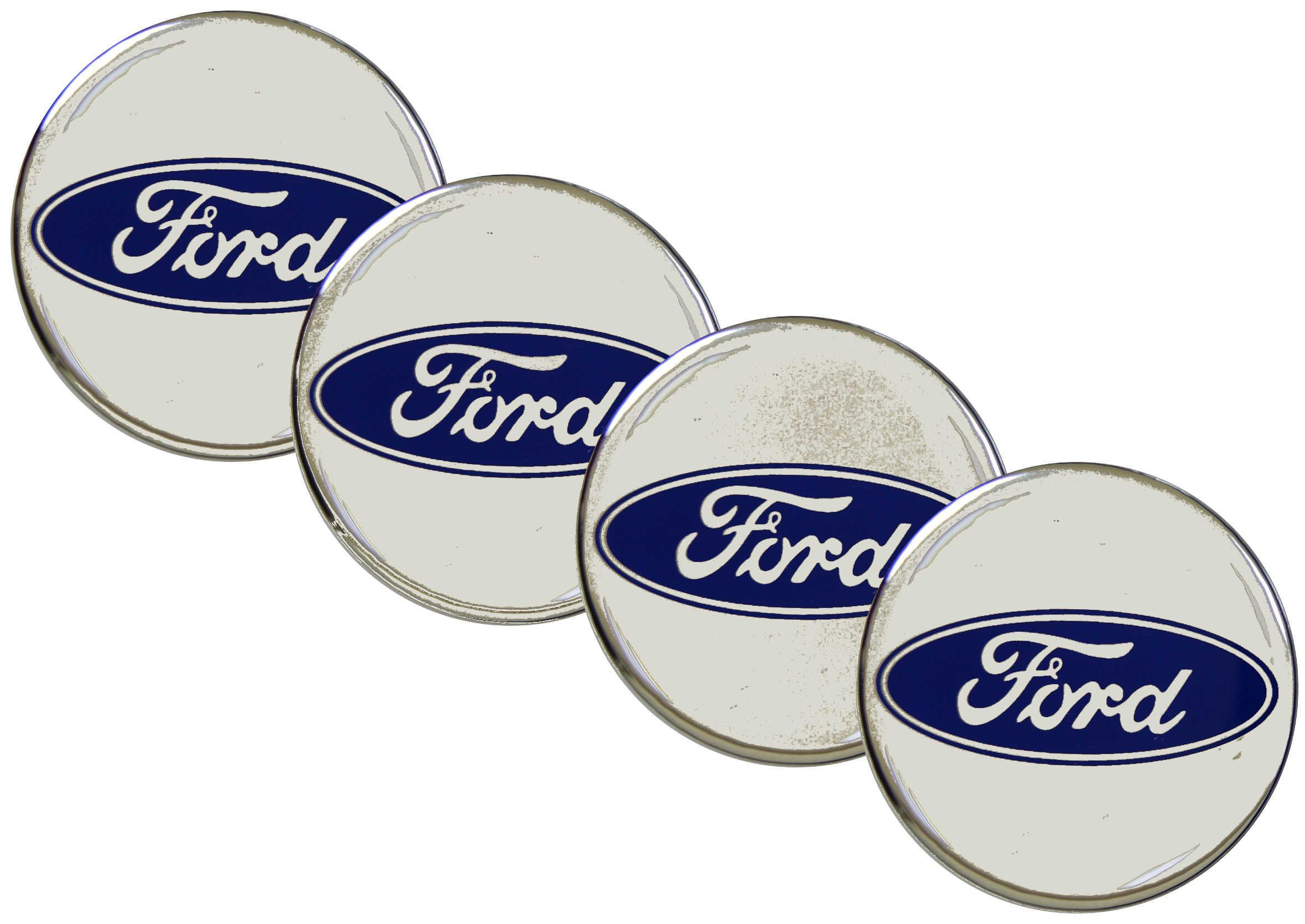 Naklejki wypukłe Emblematy Ford 70 mm 4szt