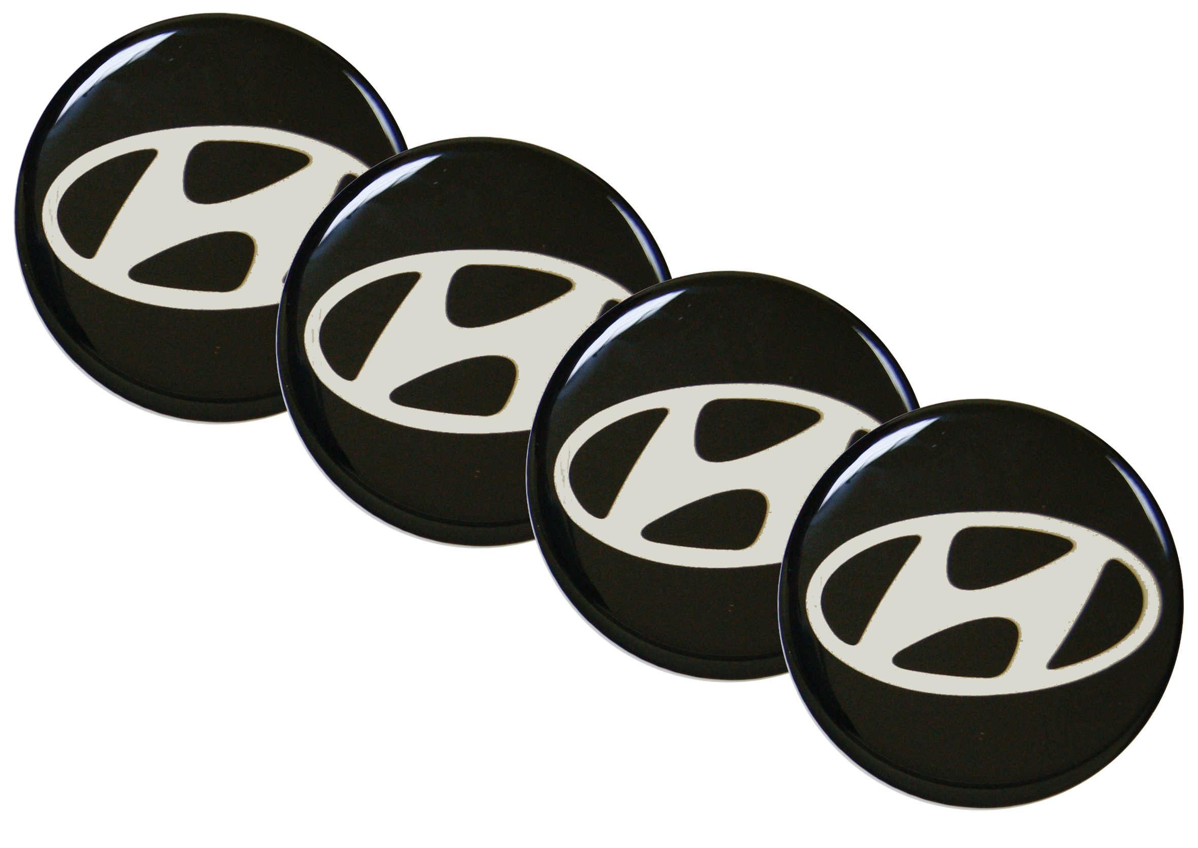Naklejki wypukłe Emblematy Hyundai 70 mm 4szt