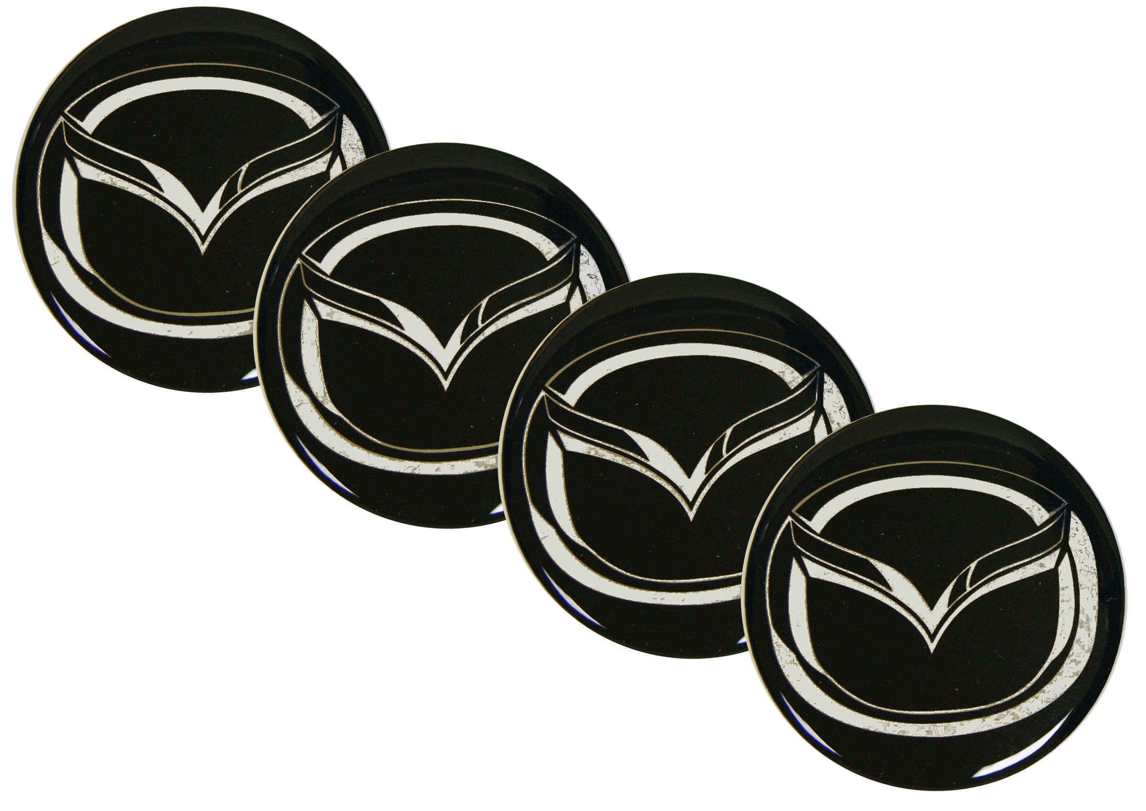 Emblematy Naklejki Wypukłe Mazda 70 mm 4szt