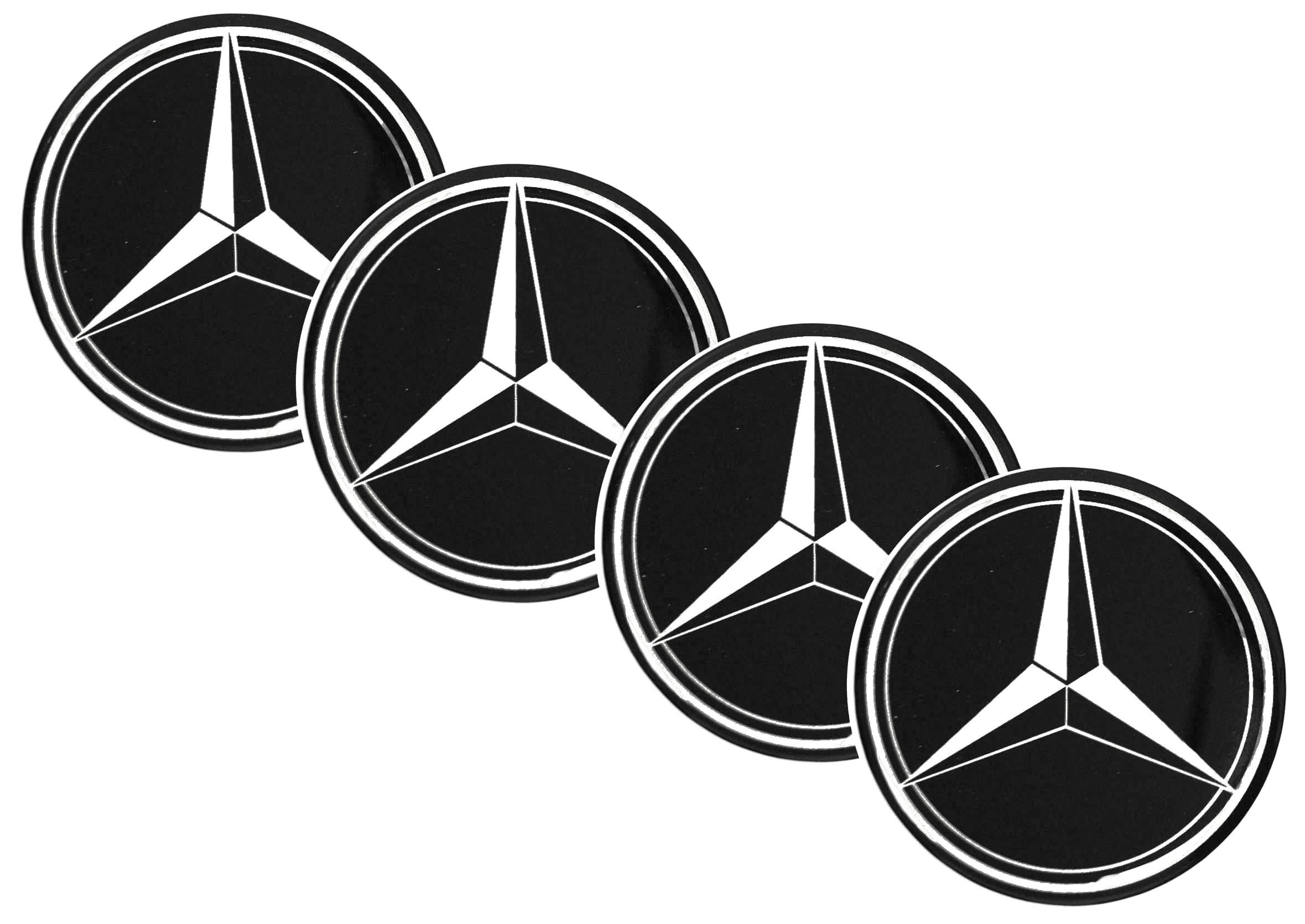 Naklejki wypukłe Emblematy Mercedes 70 mm 4szt