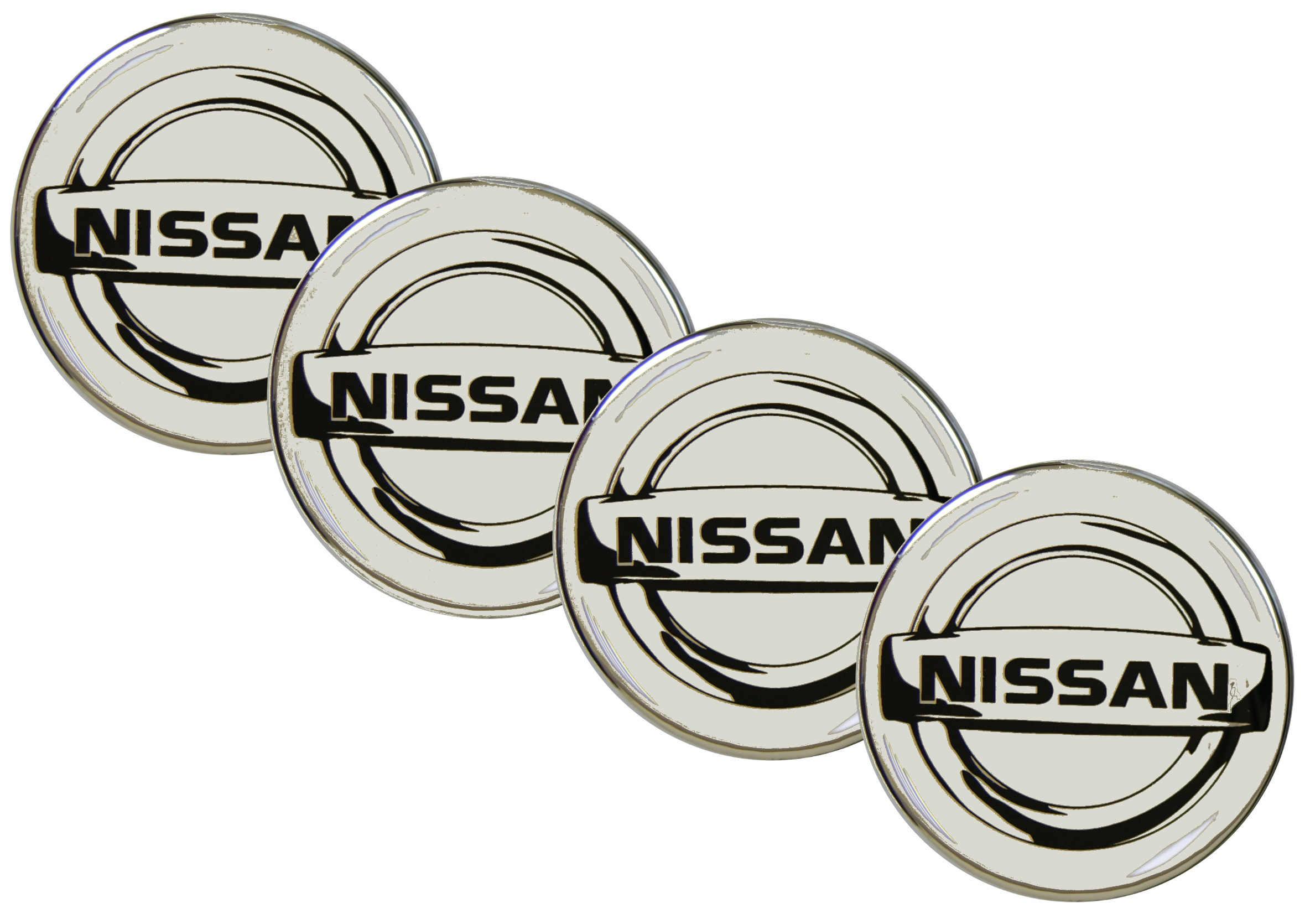 Emblematy Naklejki Wypukłe Nissan 70 mm 4szt
