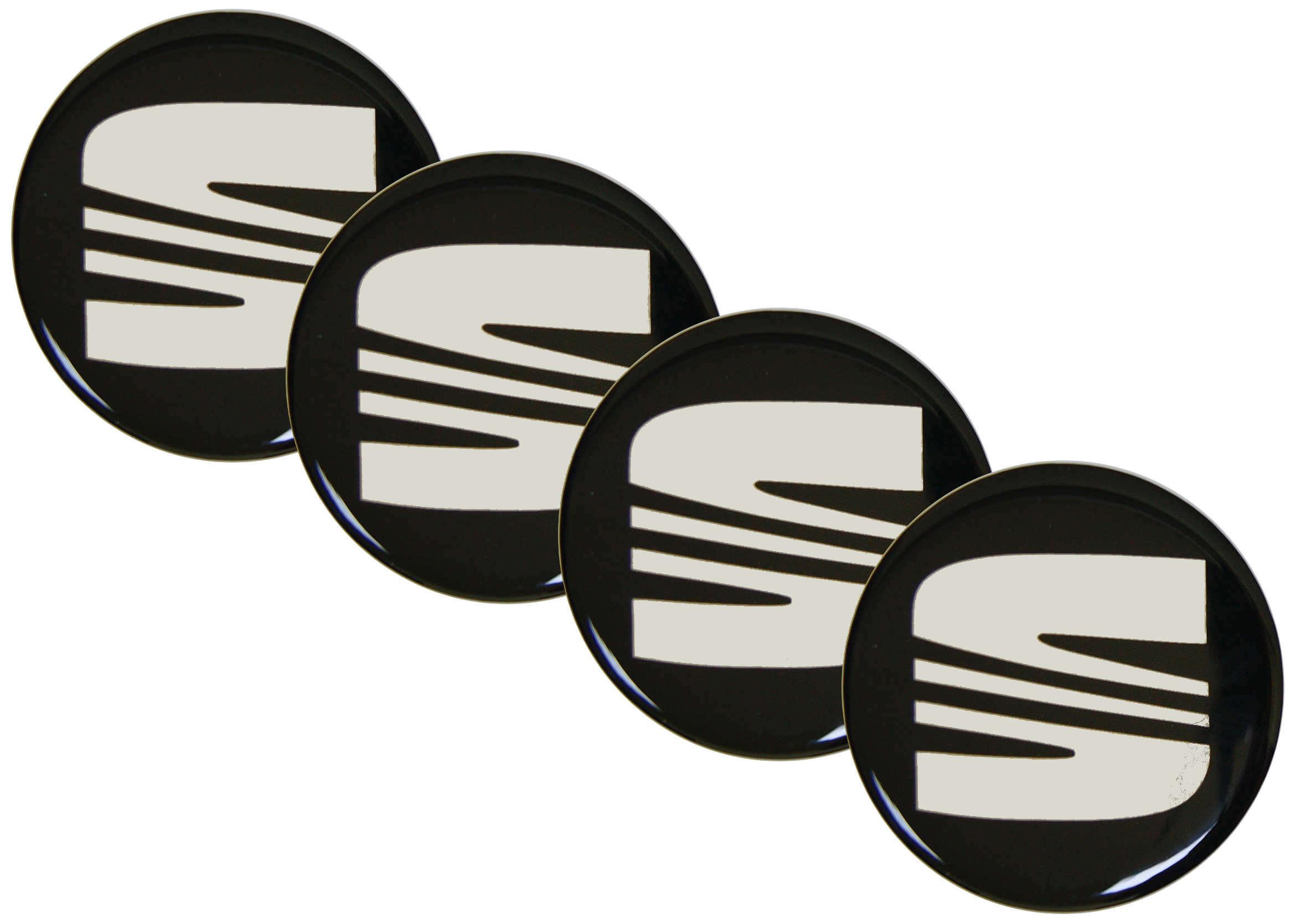Emblematy Naklejki Wypukłe Seat 70 mm 4szt