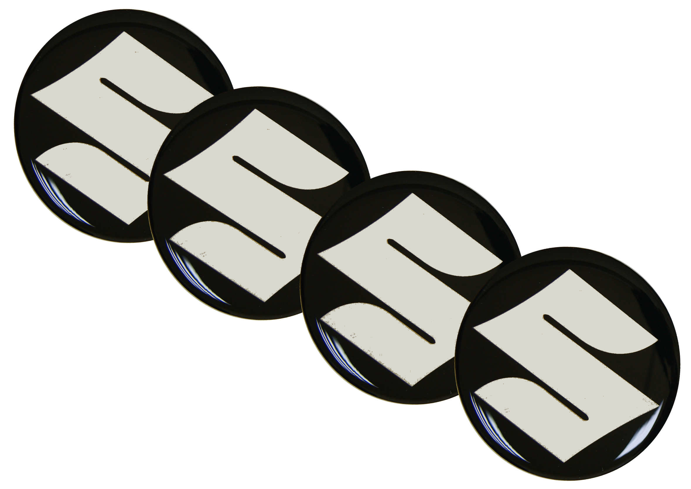 Naklejki wypukłe Emblematy Suzuki 55mm 4szt