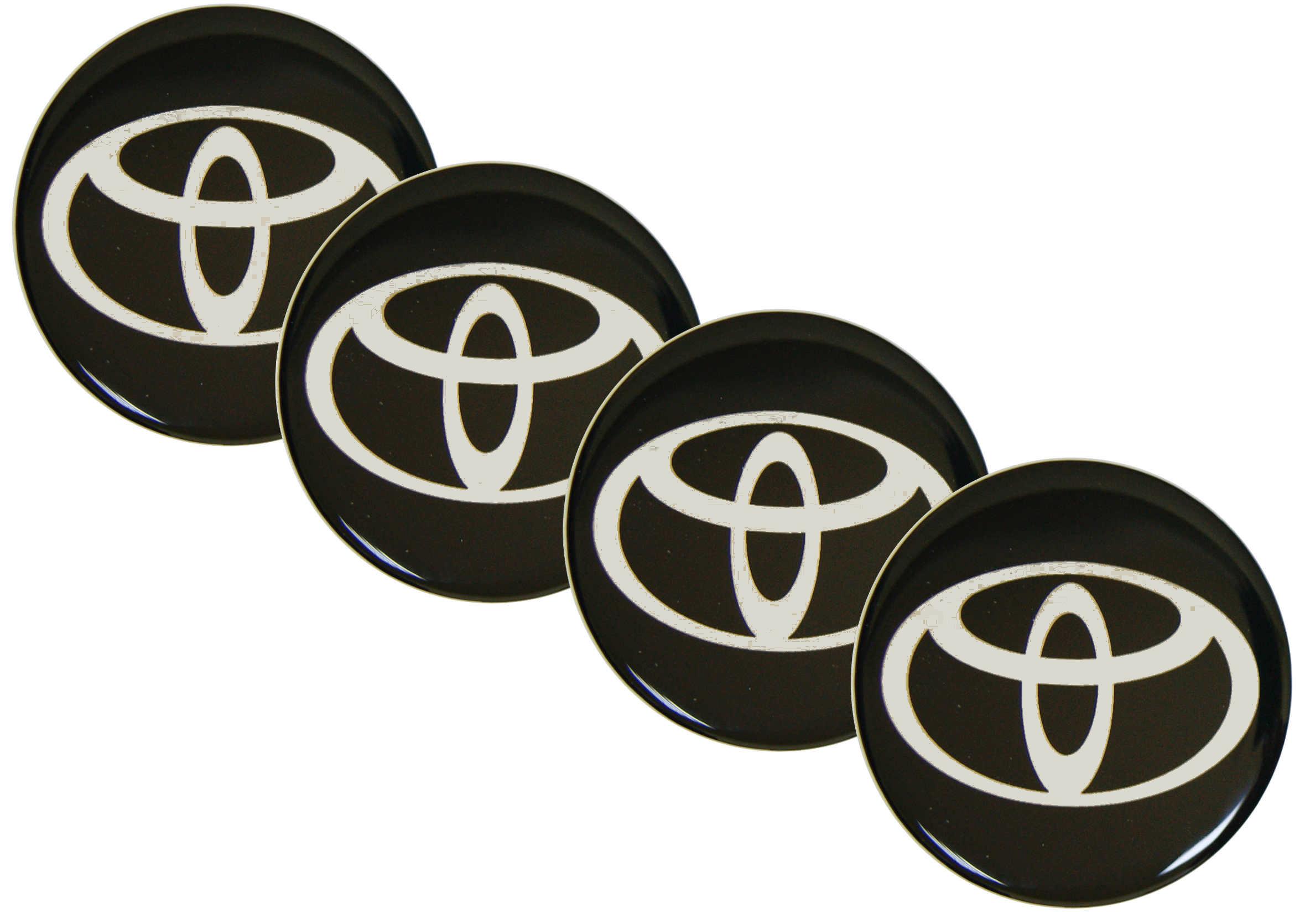 Naklejki wypukłe Emblematy Toyota 70 mm 4szt