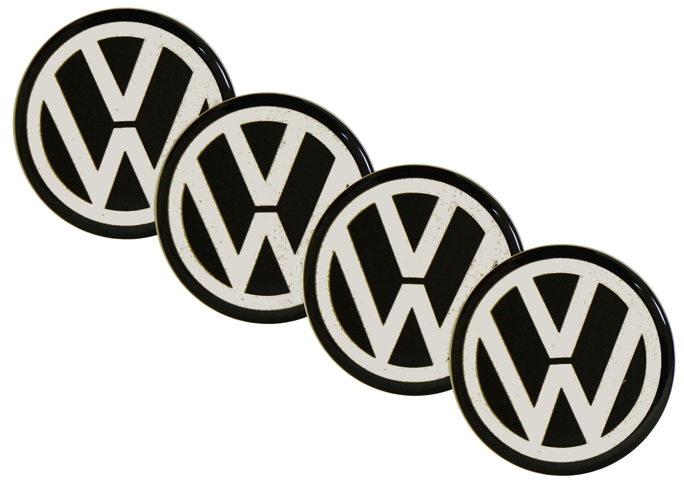 Emblematy Naklejki Wypukłe Volkswagen 4szt