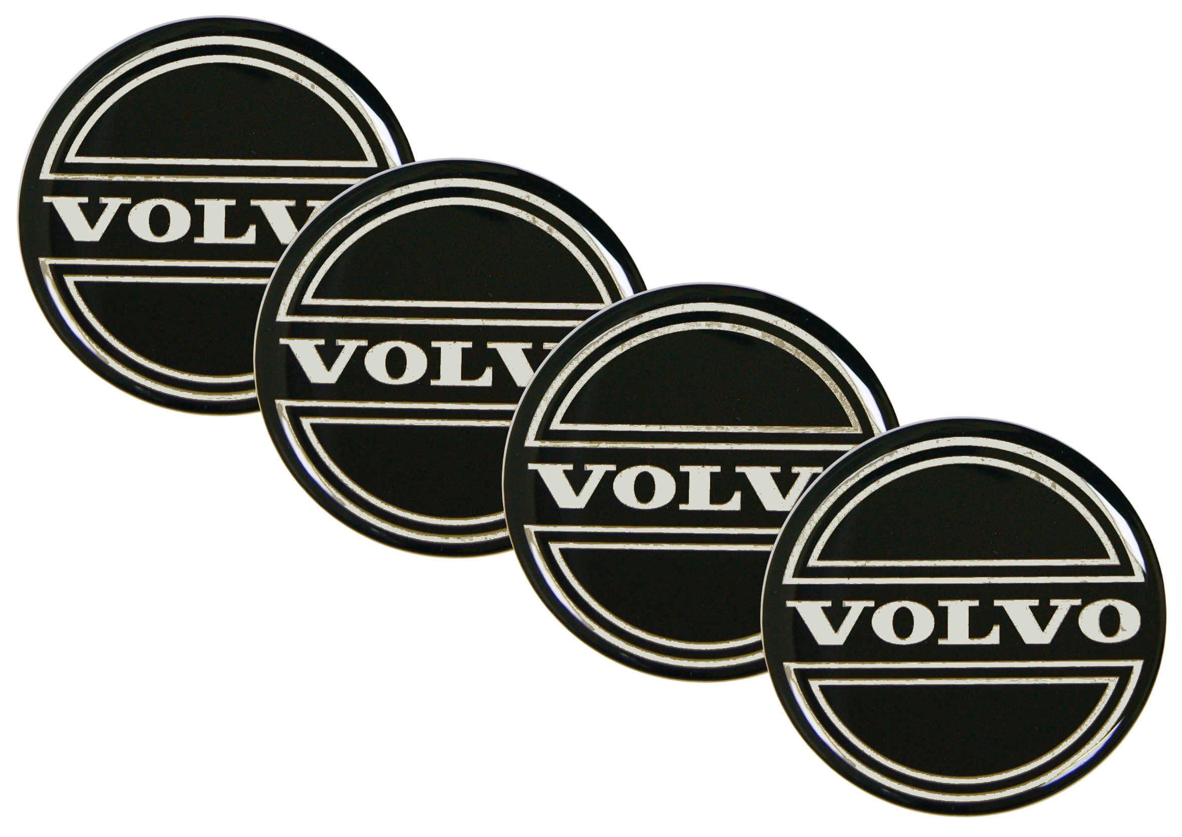 Naklejki wypukłe Emblematy Volvo 70 mm 4szt