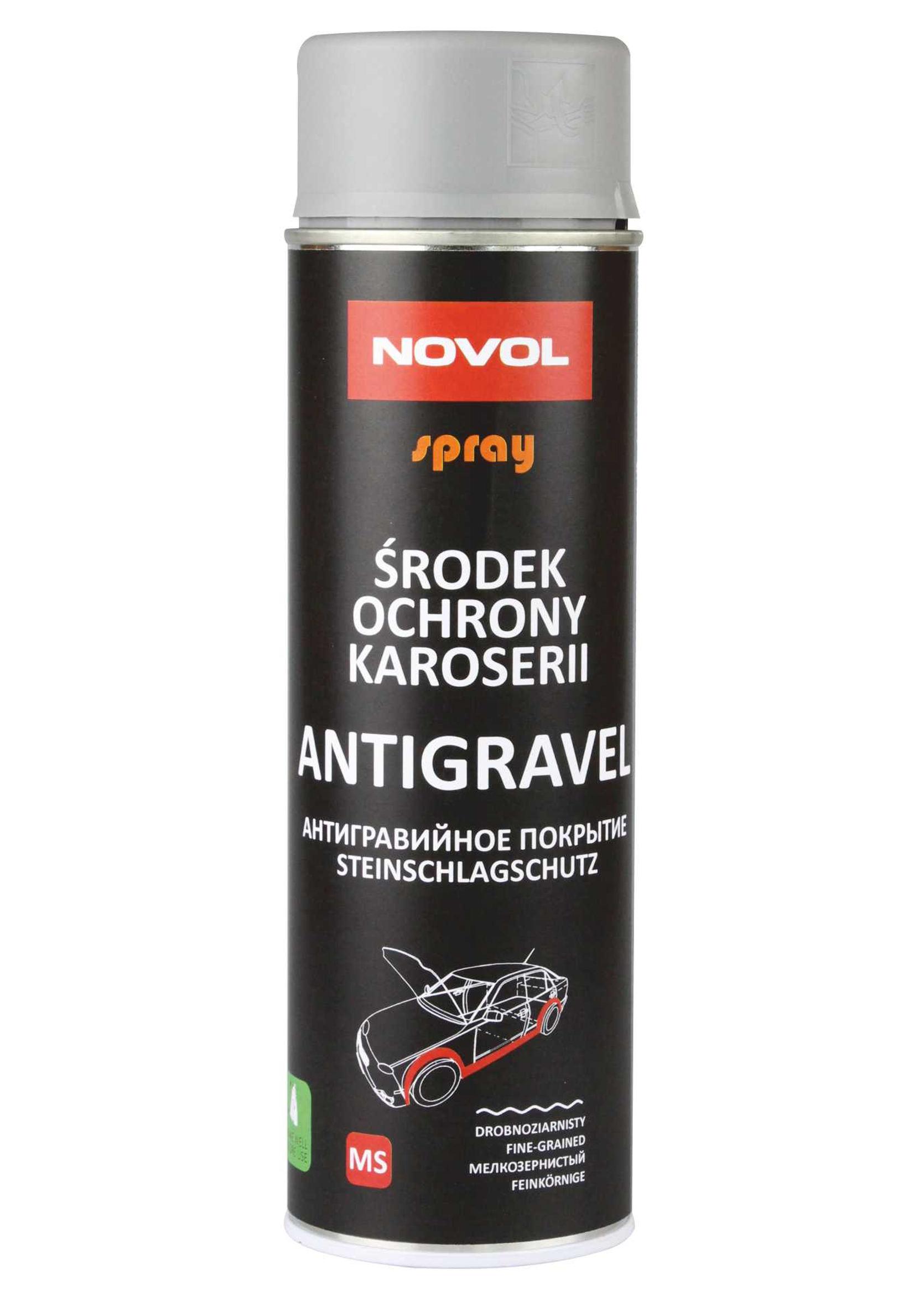 Novol Antigravel MS Baranek Szary 500ml w sprayu 500ml do zabezpieczenia podwozia