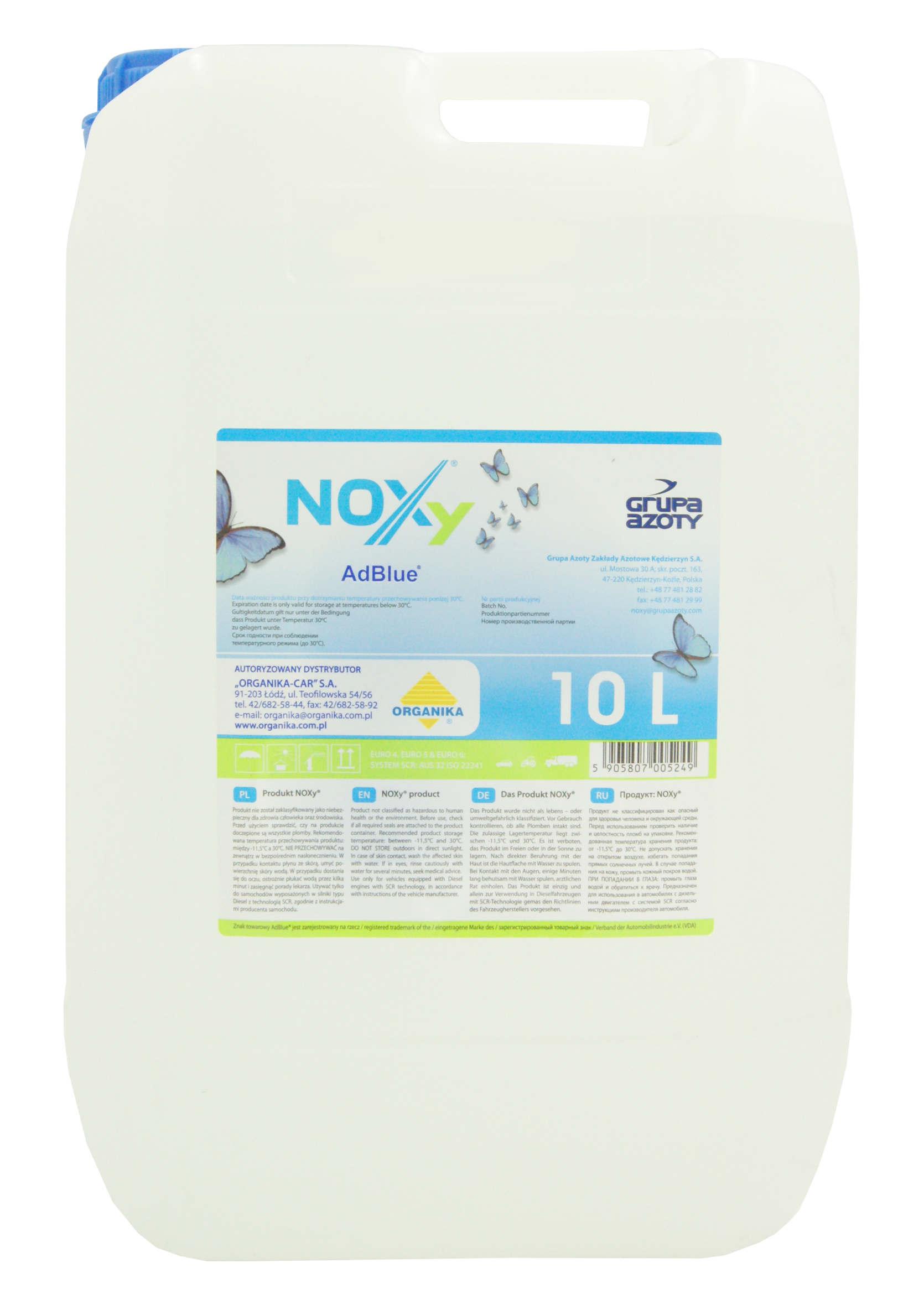 Organika Noxy AdBlue 10L Płyn do Silników Diesla z Systemem SCR