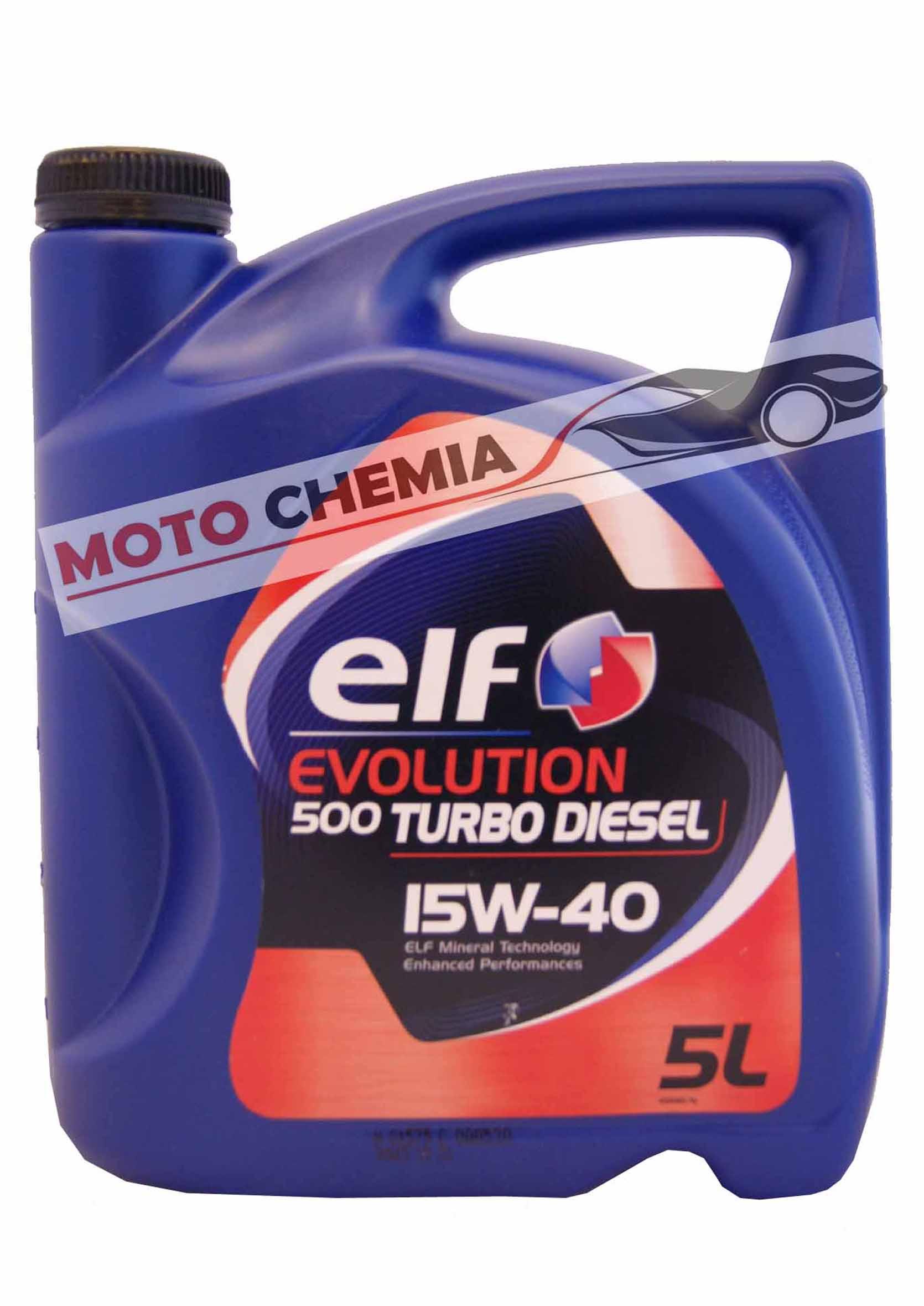 Elf Evolution 500 Turbo Diesel 15W40 5L Olej Silnikowy Mineralny