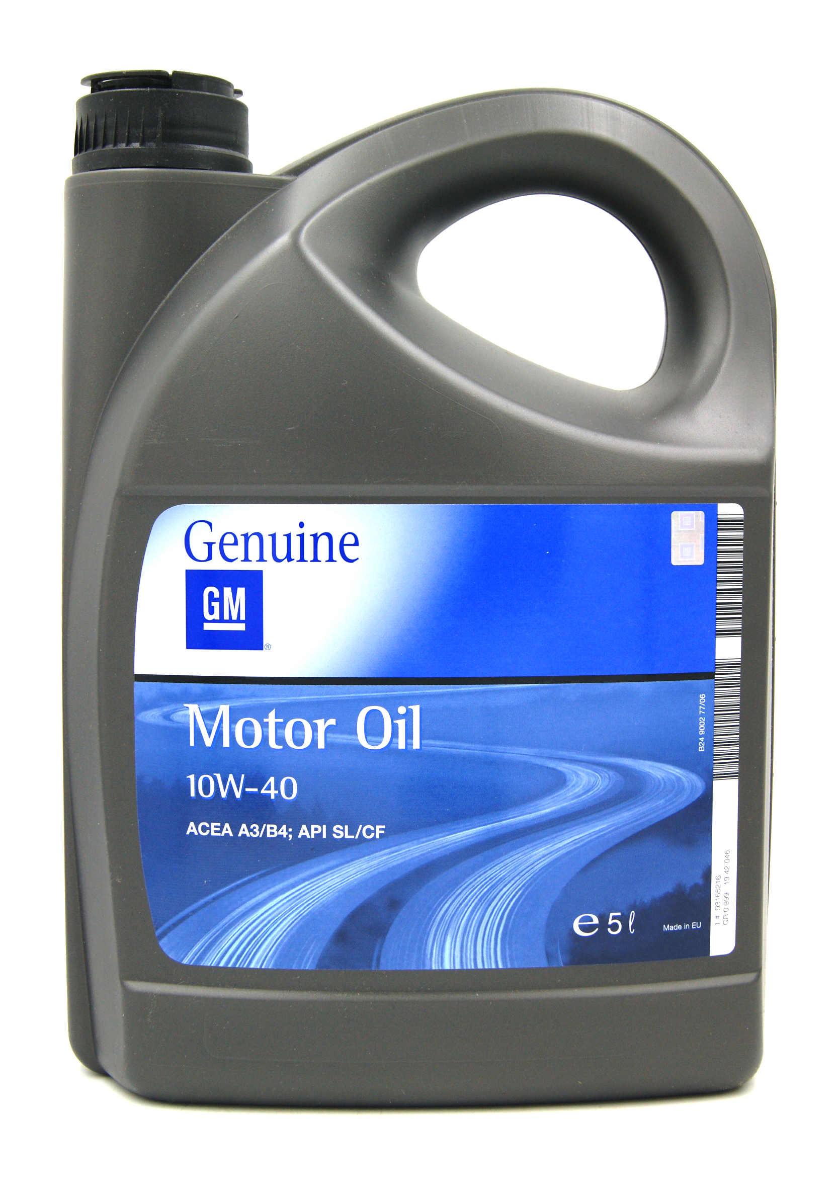 Opel GM 10W40 5L Półsyntetyczny olej silnikowy
