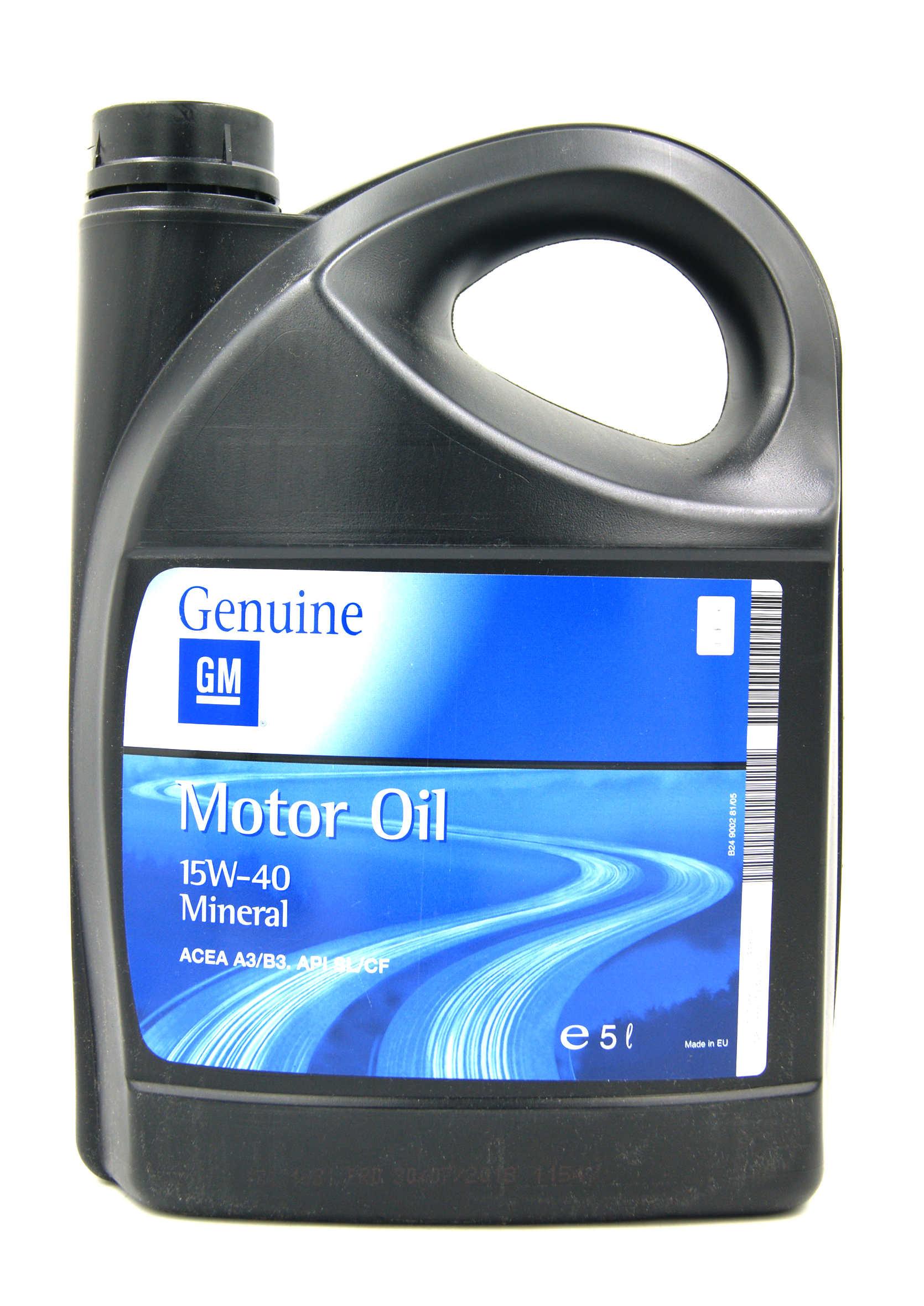 Opel GM 15W40 5L Mineralny olej silnikowy