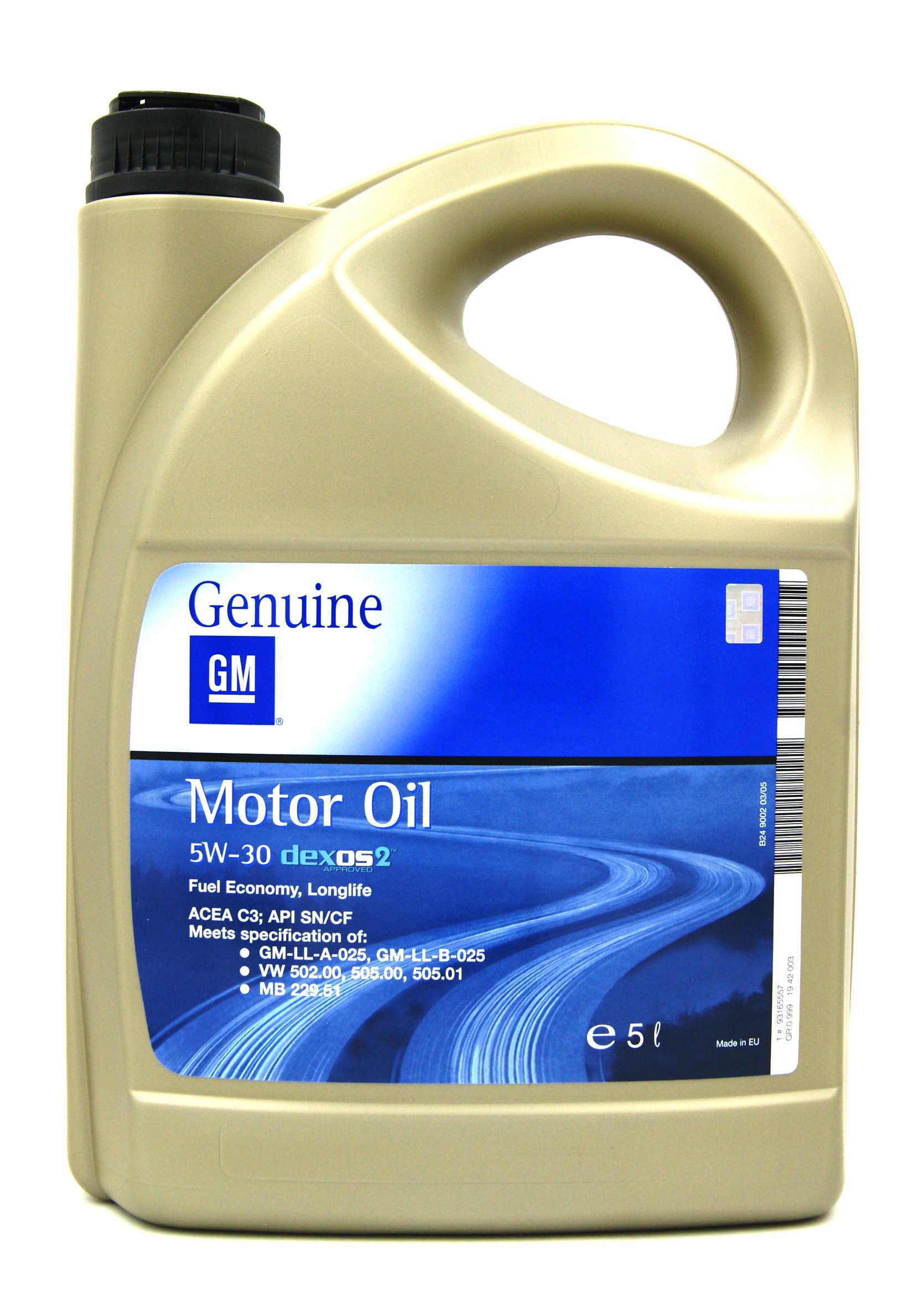 Opel GM 5W30 Dexos2 5L Olej Syntetyczny