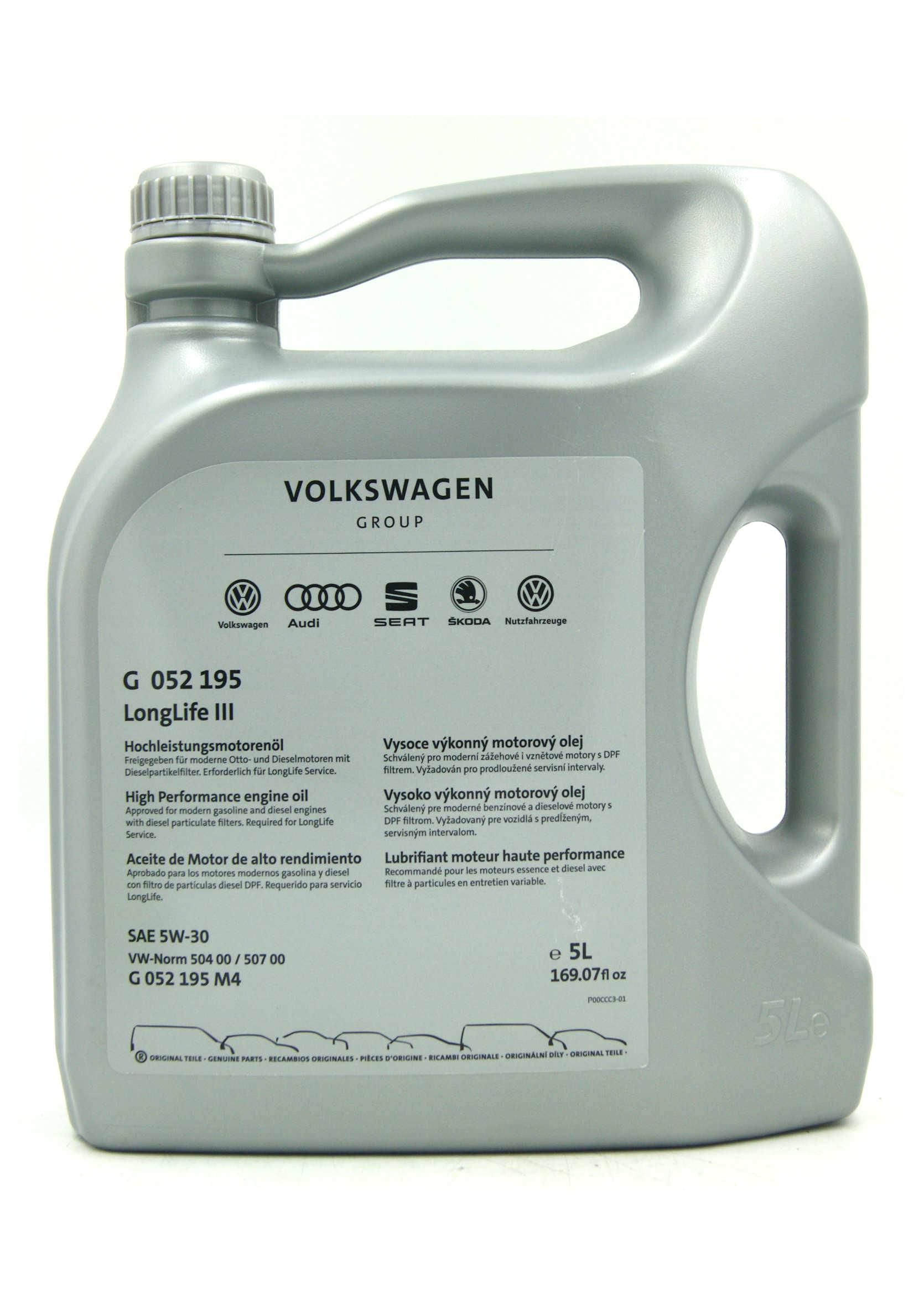 Oryginalny Olej Syntetyczny Volkswagen 5W30 LL III 5L
