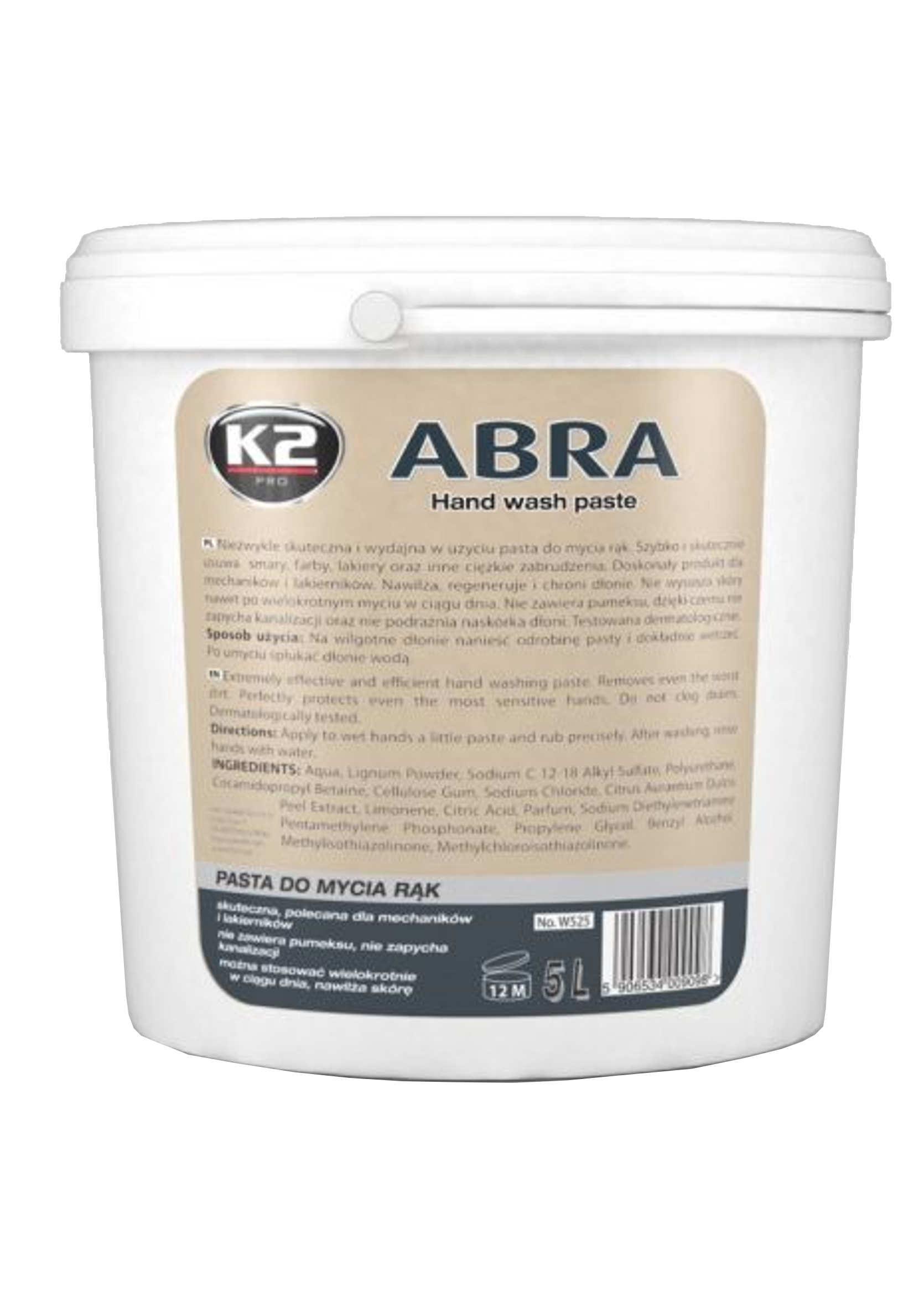 K2 Abra Pasta (jak BHP) do mycia rąk 5L