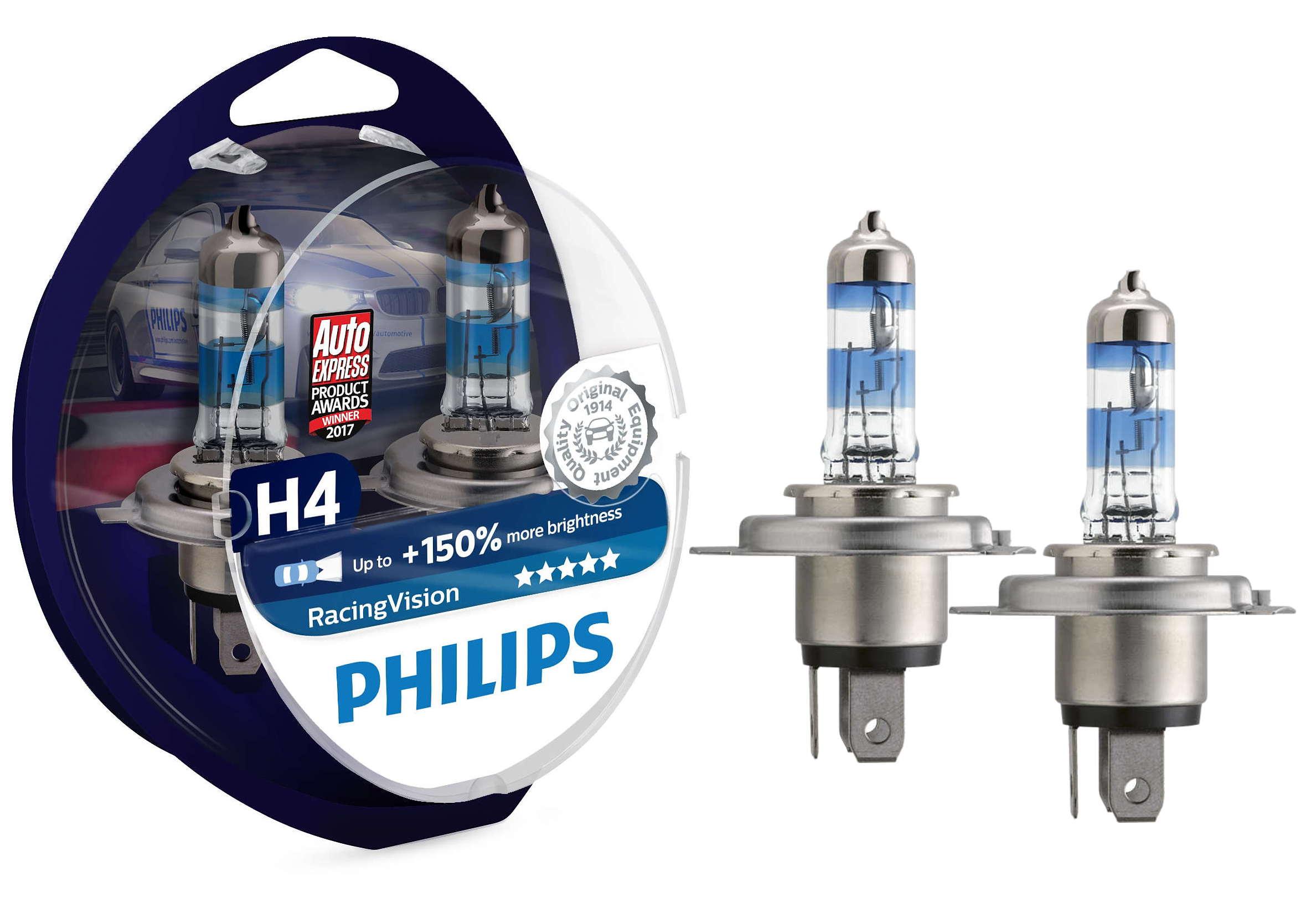 Philips RacingVision +150% H4 12V 60/55W P43t 2szt. Żarówki Halogenowe