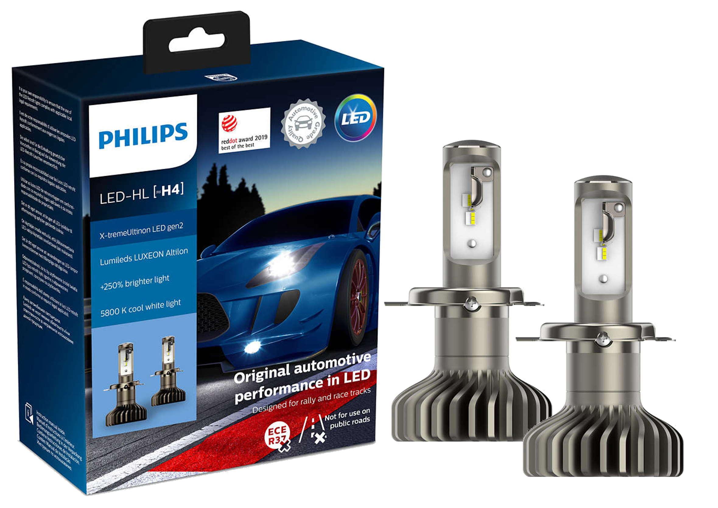 Philips X-tremeUltinon LED +250% H4 5800K CANBUS Żarówki Samochodowe Ledowe 2szt.