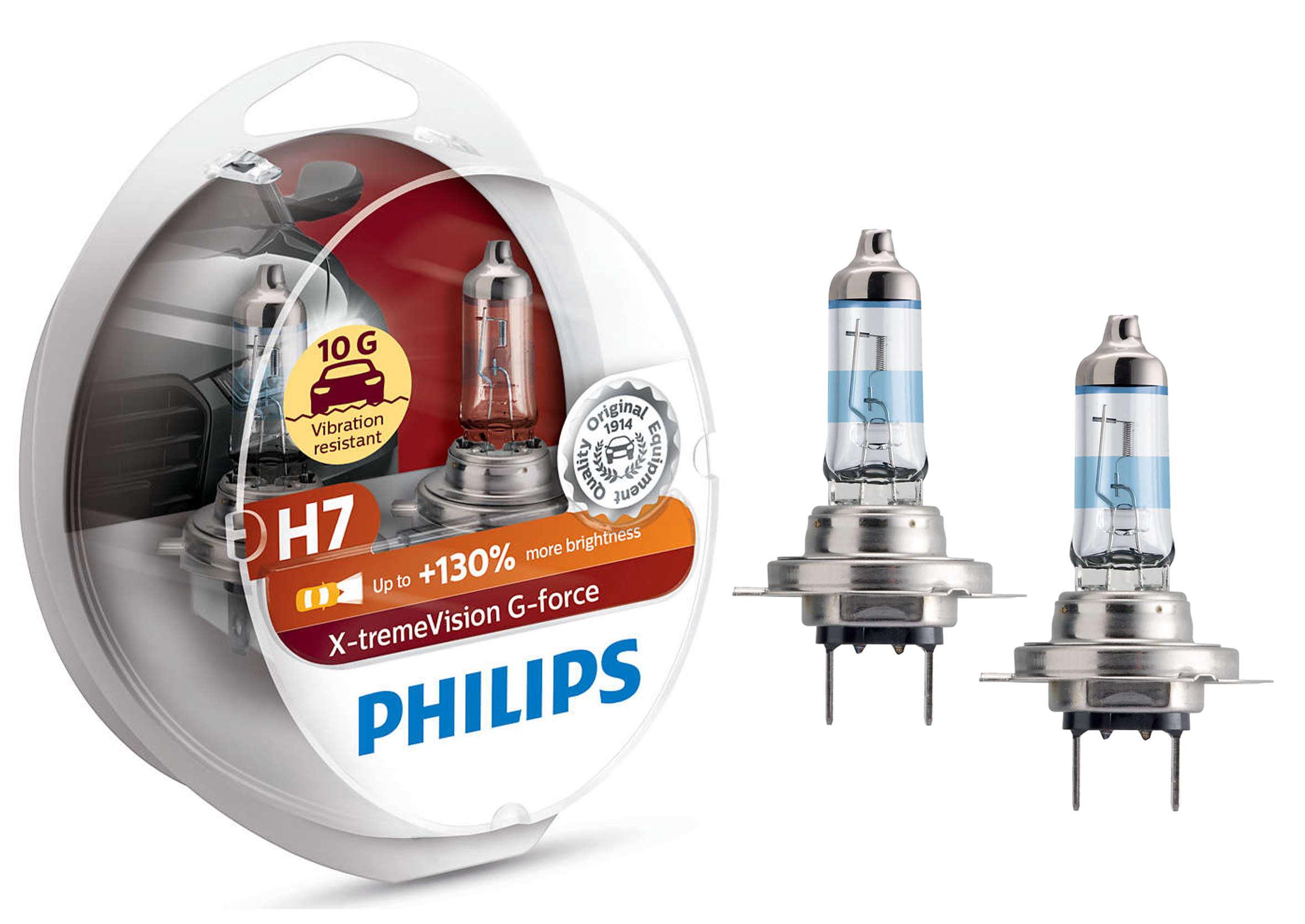 Philips X-treme Vision G-force 130% H7 12V 55W PX26d Żarówki Samochodowe 2szt.