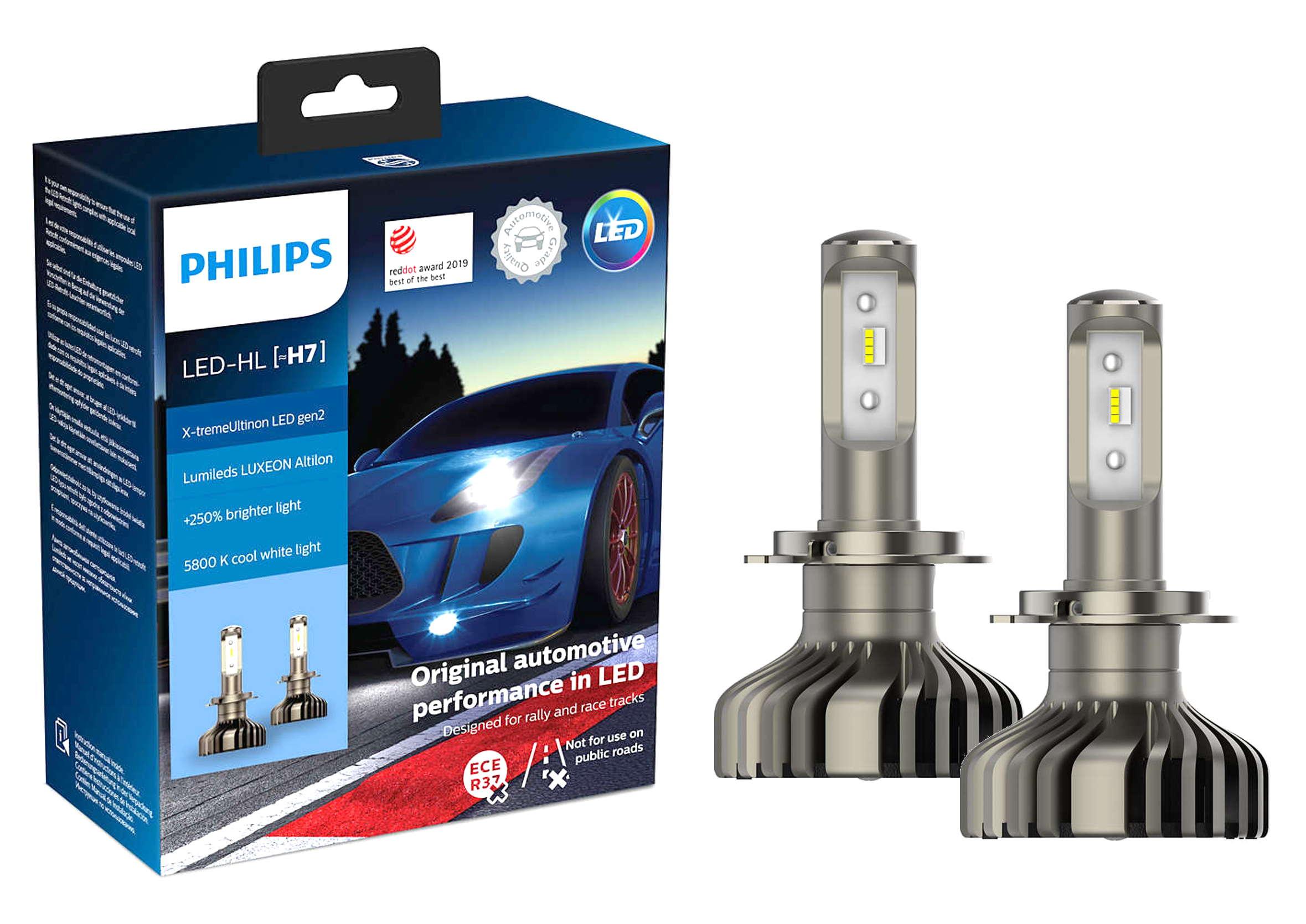 Philips X-tremeUltinon LED +250% H7 5800K CANBUS Żarówki Samochodowe Ledowe 2szt.