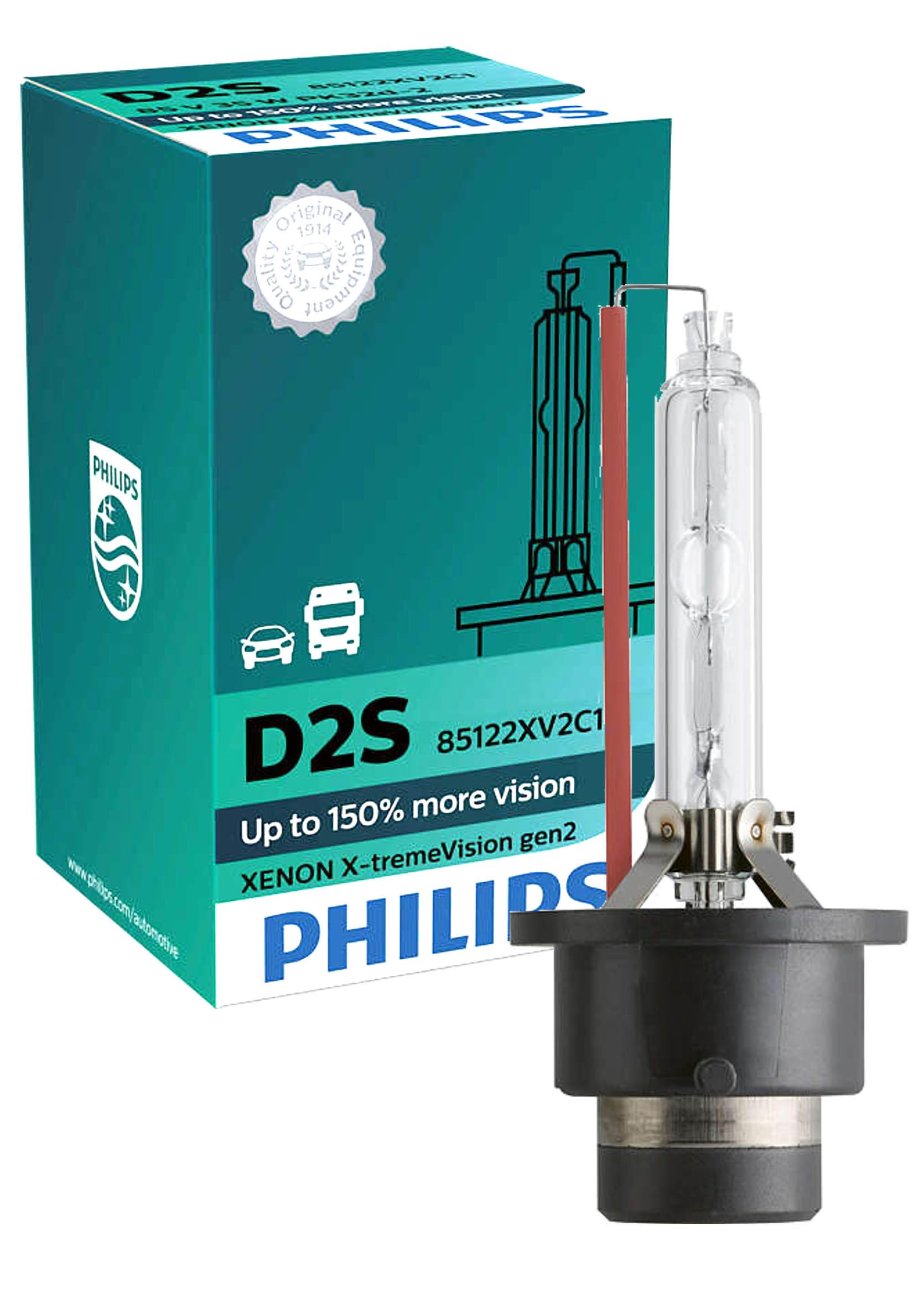 Philips X-tremeVision gen2 +150% D2S 85V 35W P32d-2 1szt. Żarnik ksenonowy