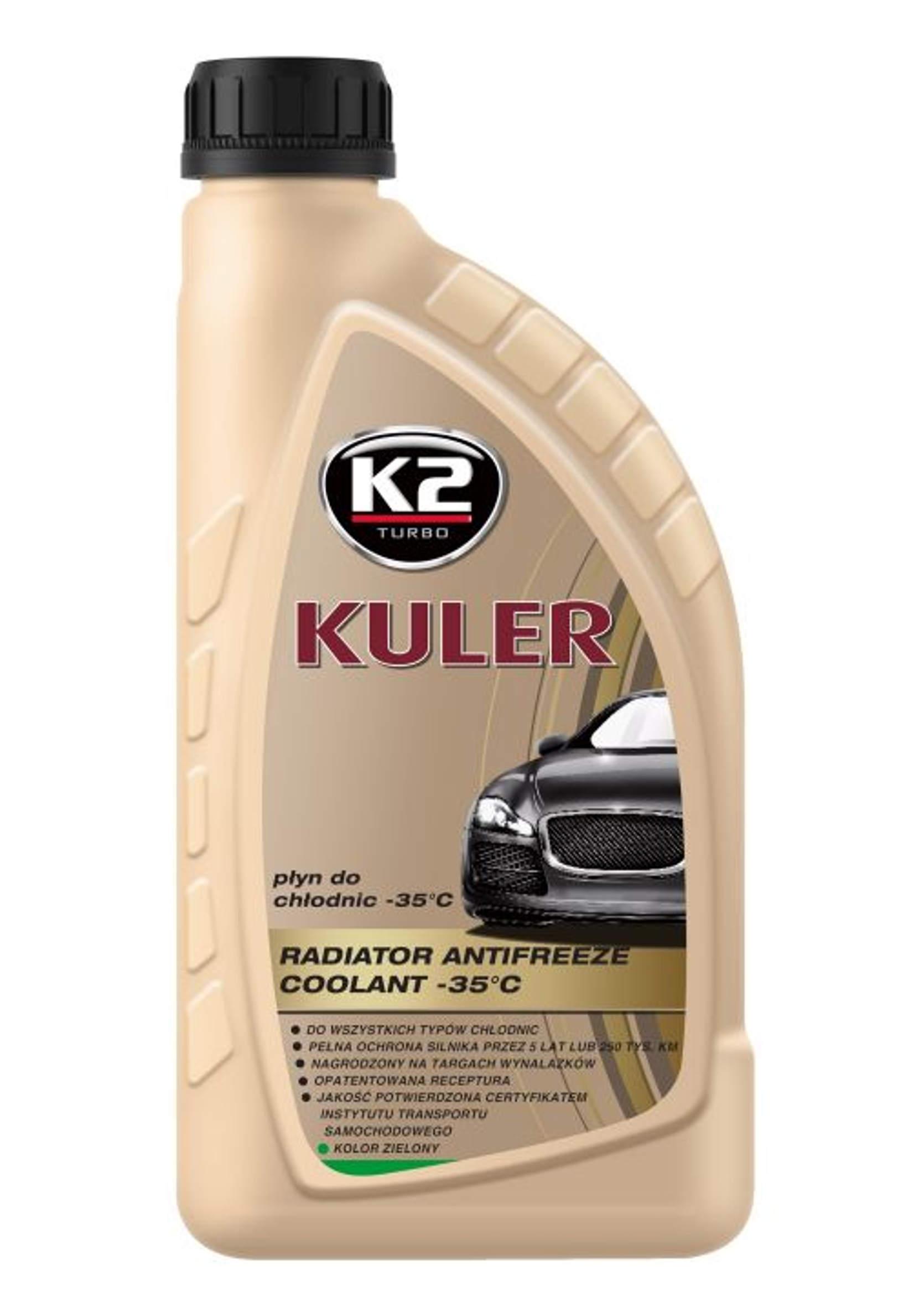 K2 Kuler 1L Płyn do chłodnic samochodowych Zielony -35C