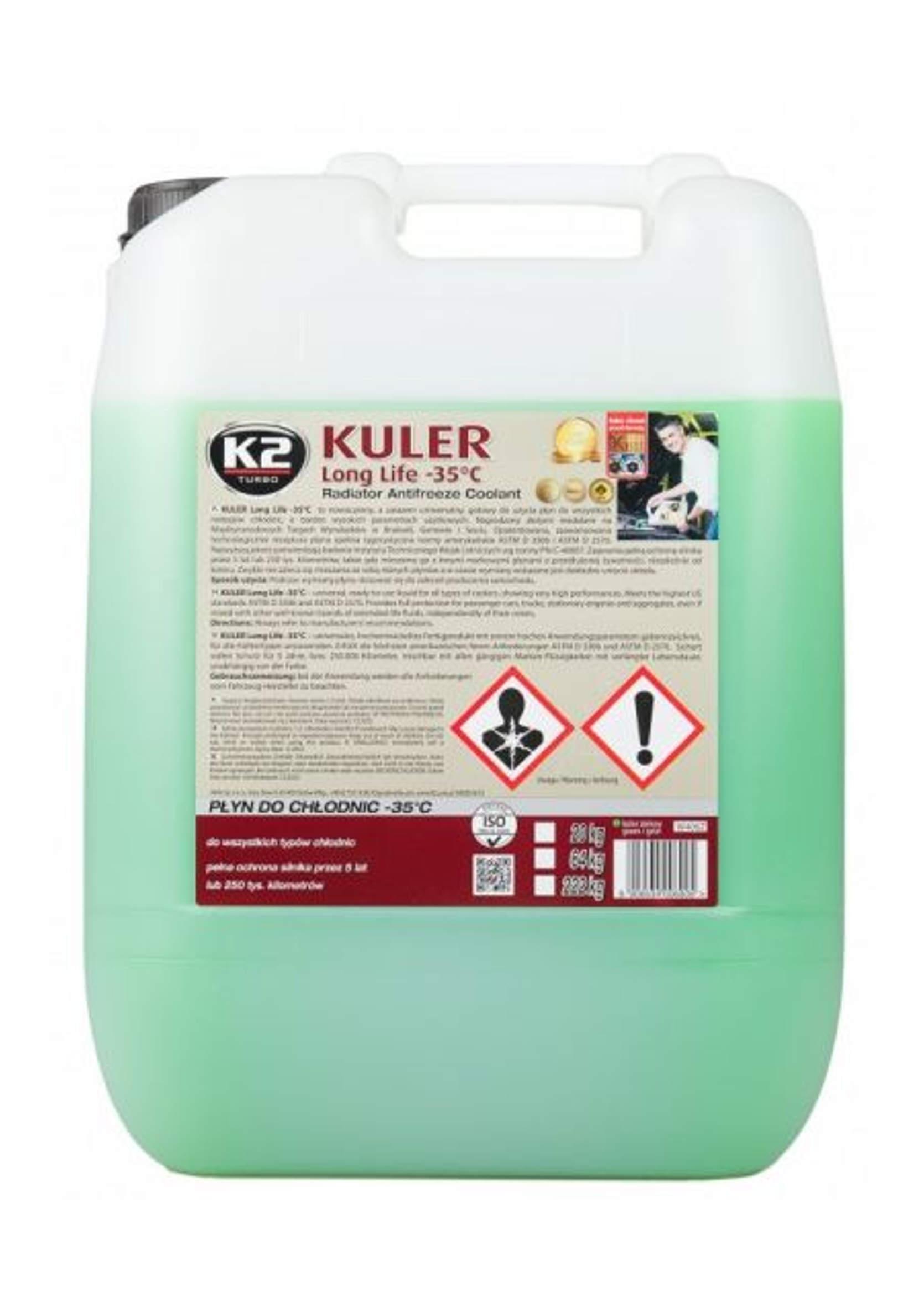 K2 Kuler 20L Płyn do chłodnic samochodowych Zielony -35C
