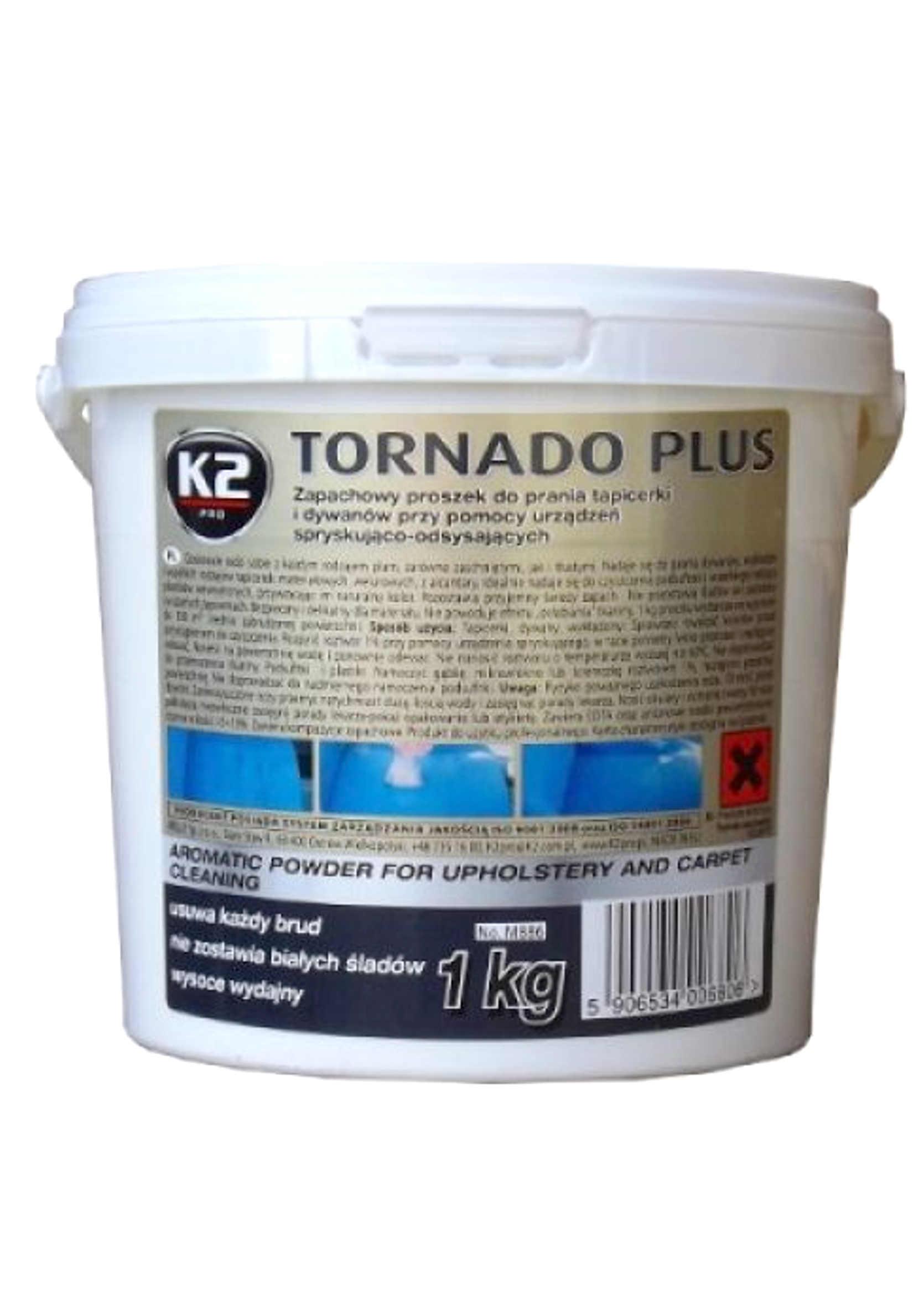 K2 Tornado Plus 1 kg Zapachowy Proszek do prania tapicerki i dywanów