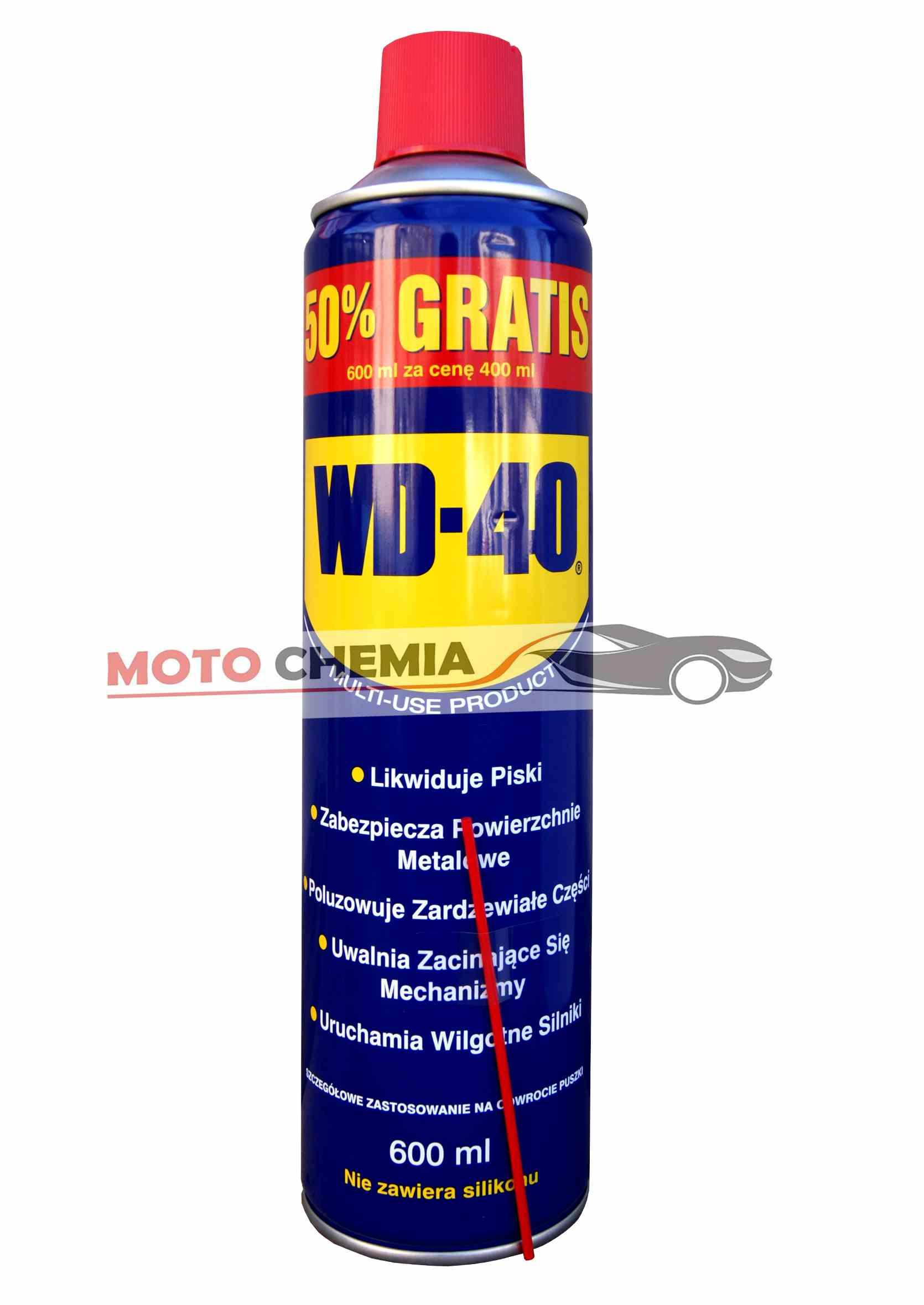 WD-40 600ml (400ml+50% gratis) Preparat wielofunkcyjny wd40 penetrant odrdzewiacz wielozadaniowy