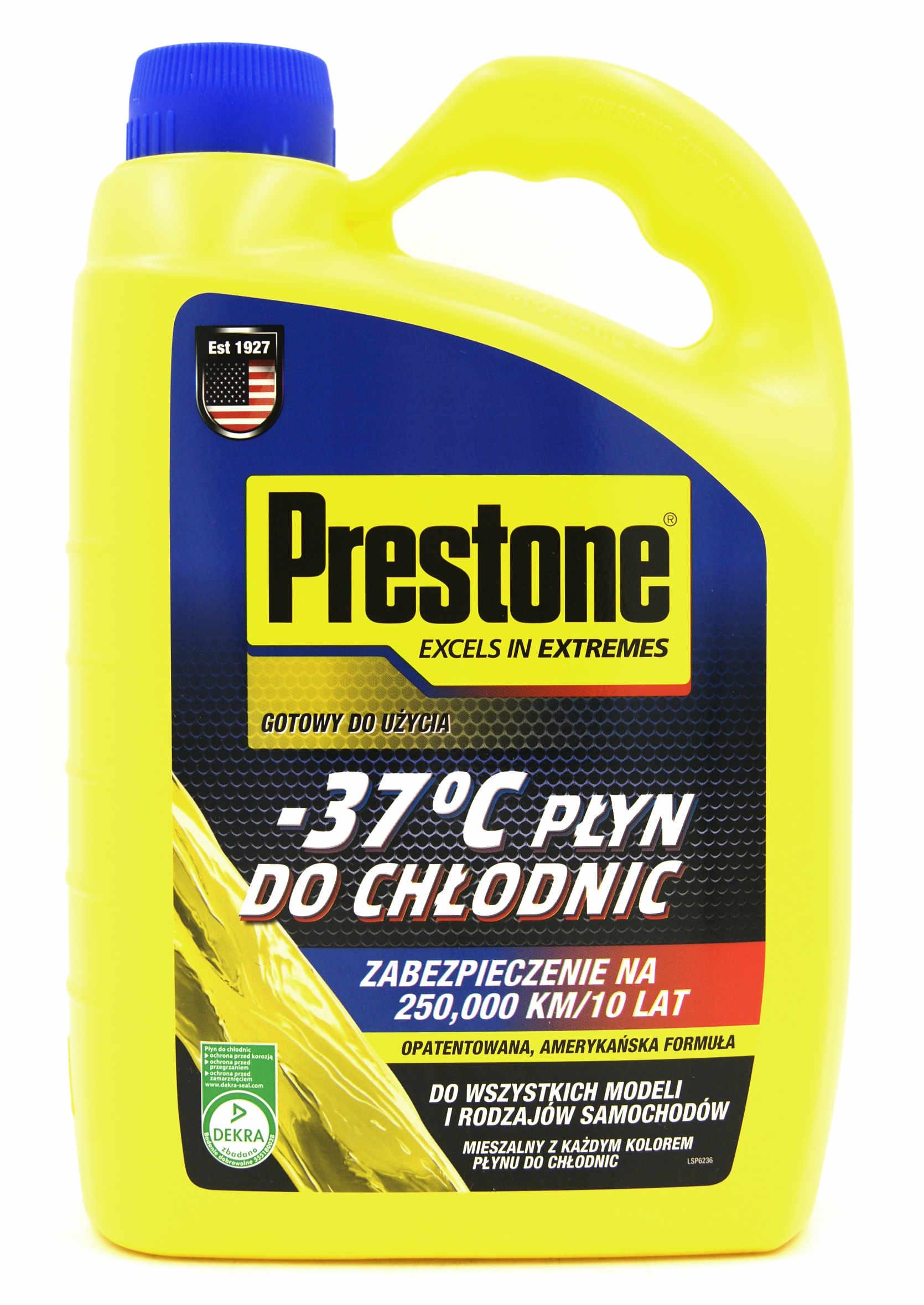 Prestone Płyn do Chłodnic Samochodowych Żółty -37C  G11 G12 4L