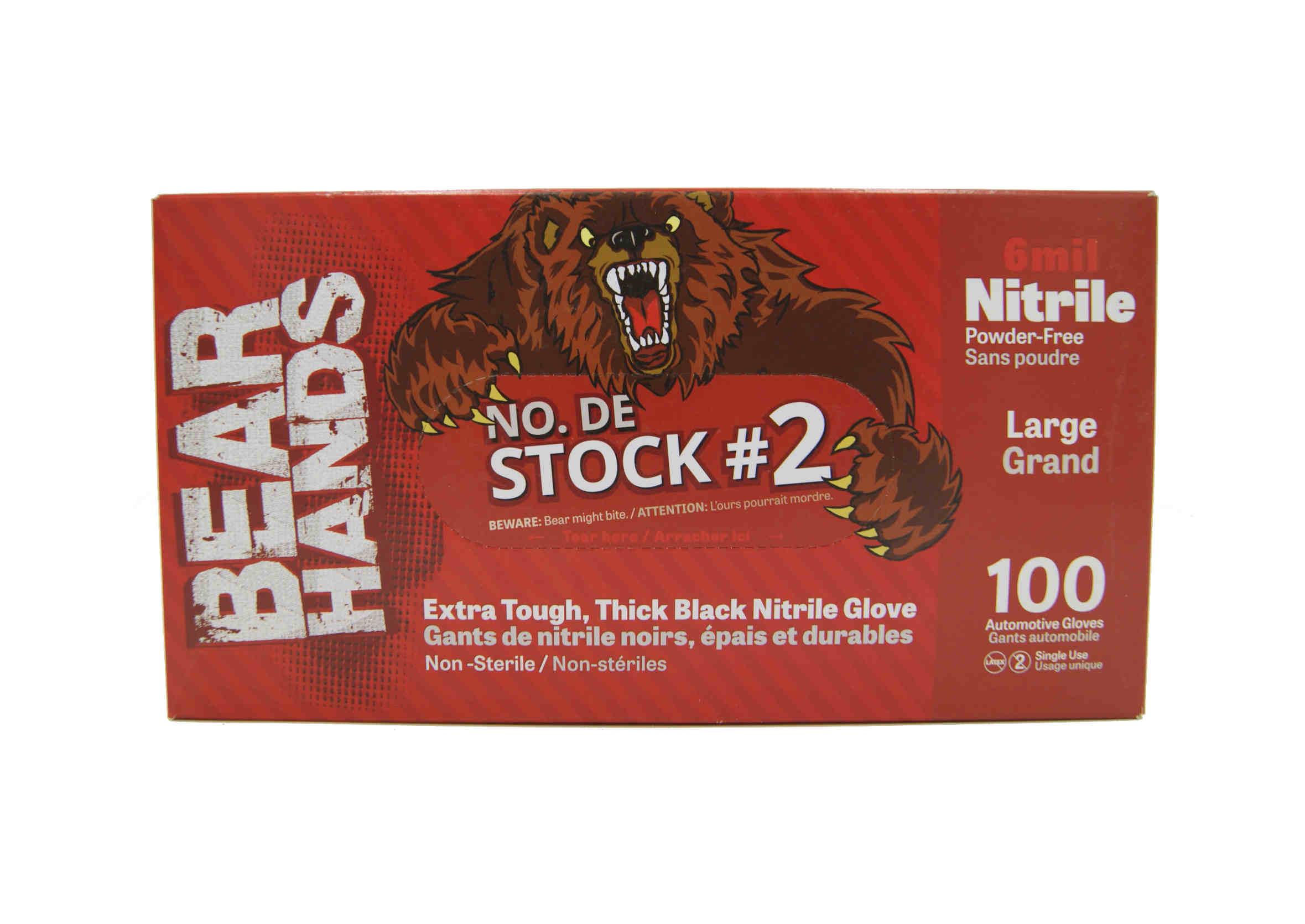 Kleen-Flo Rękawice Serwisowe Nitrylowe Bear Hands Rozmiar L 100 sztuk