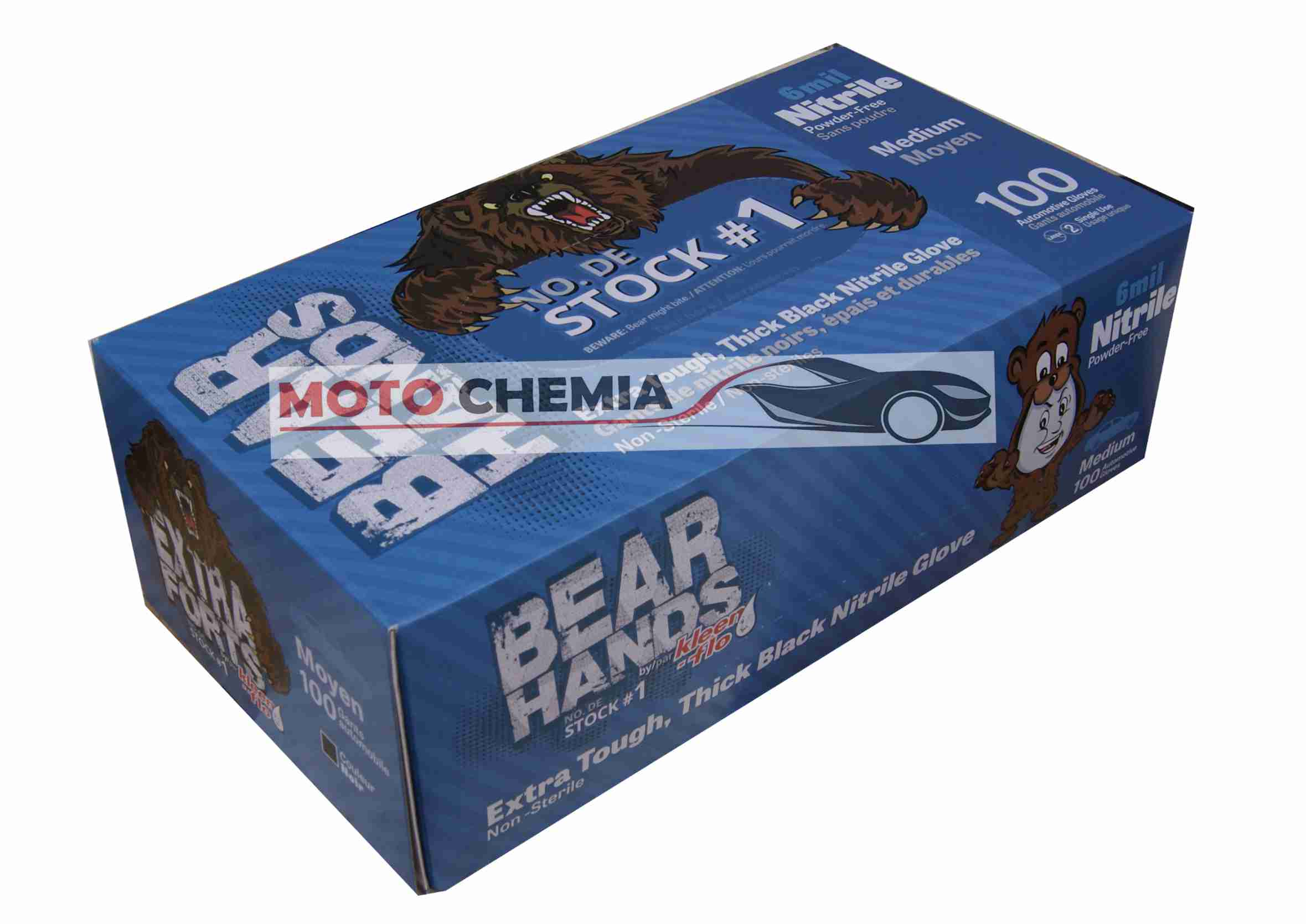 Uniwersalne Rękawice OchronneKleen-Flo Bear Hands Rozmiar M 100 sztuk