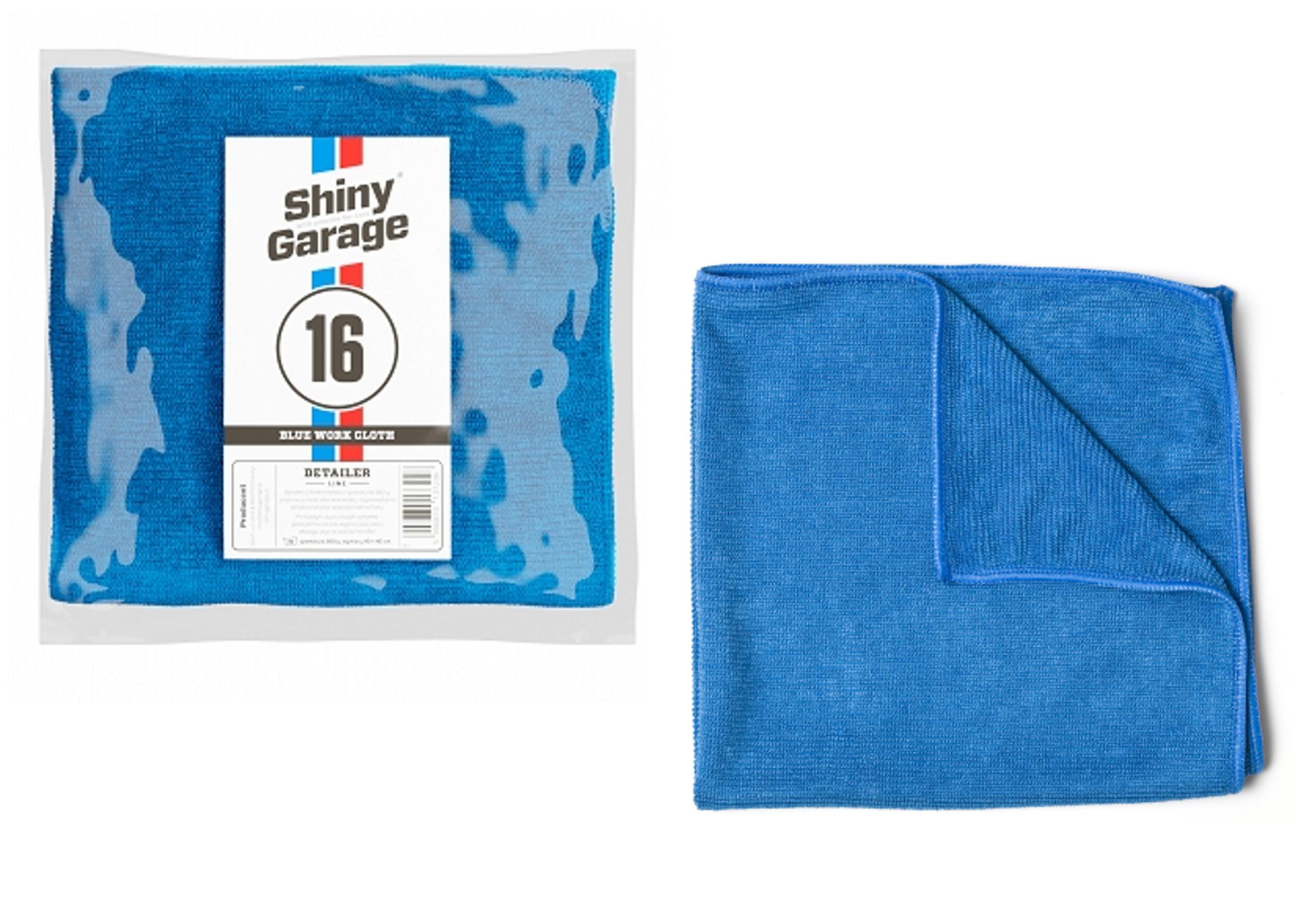 Shiny Garage Blue Work Cloth 40x40 cm Mikrofibra do Polerowania Lakieru 300 g