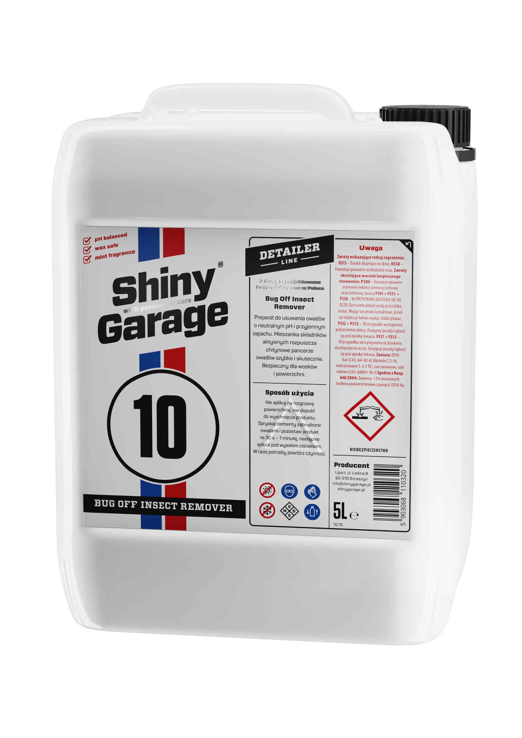 Shiny Garage Bug Off Insect Remover 5L do usuwania owadów z karoserii