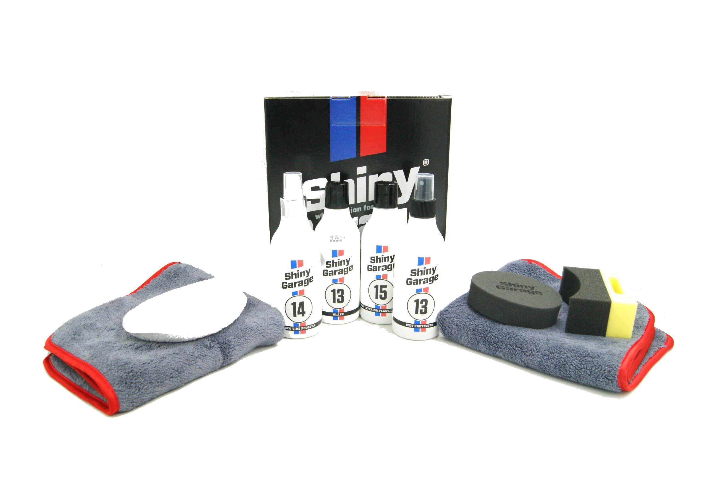Shiny Garage Sample Kit 8w1 Zestaw Kosmetyków Samochodowych