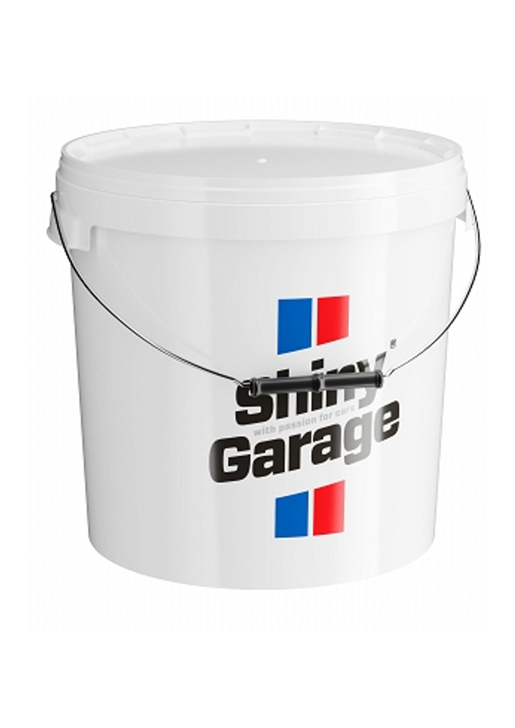 Shiny Garage Wiadro z Pokrywką Białe 20L do Mycia Auta
