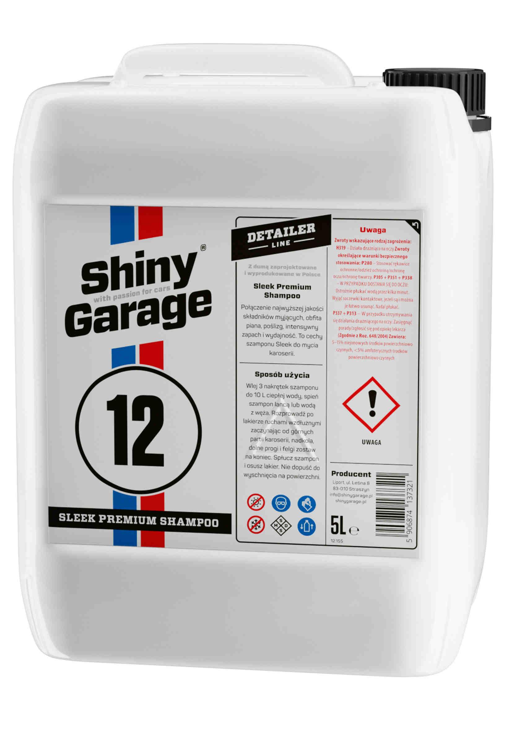 Shiny Garage Sleek Premium Shampoo 5L Szampon do mycia samochodu
