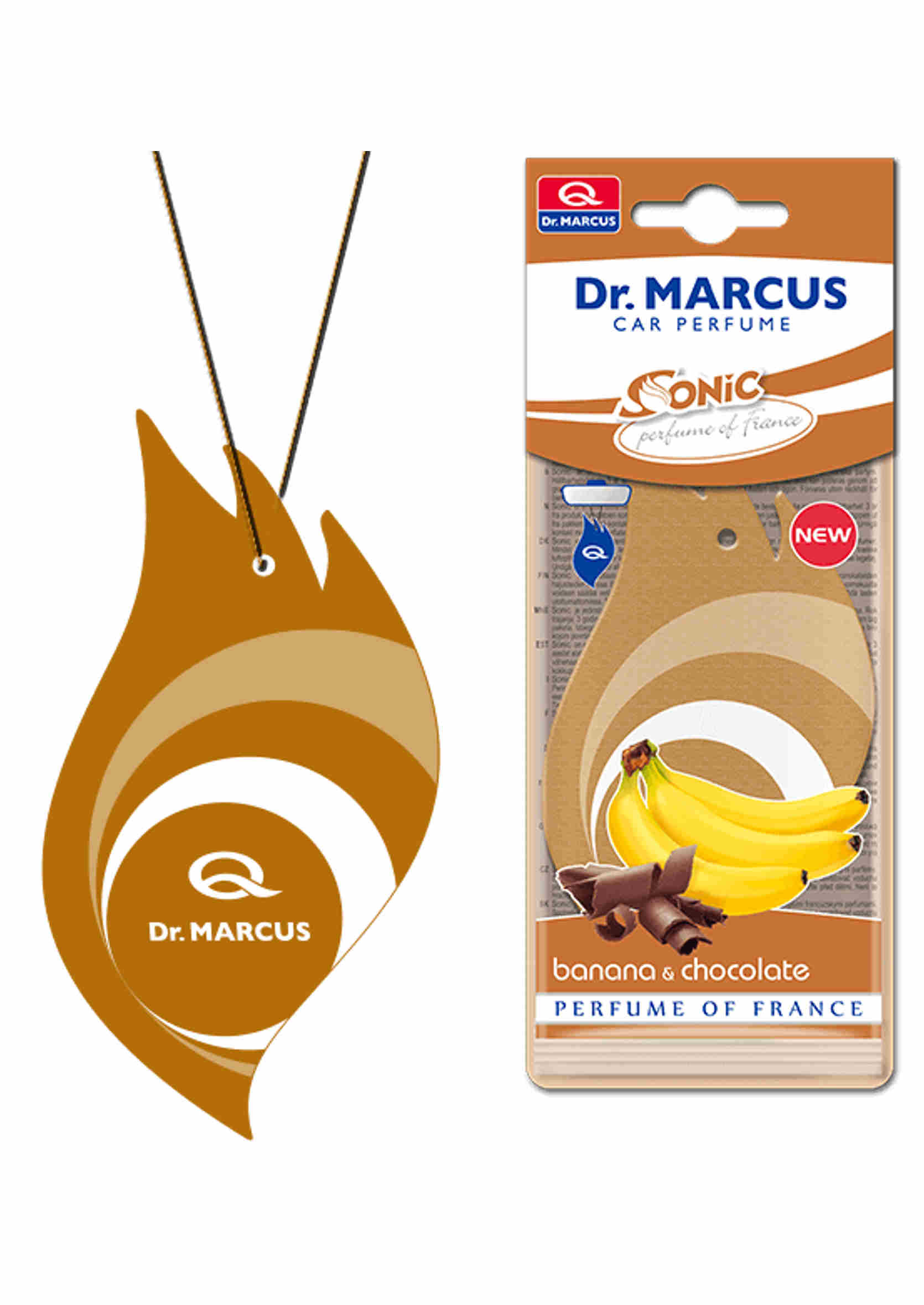 Dr. Marcus Sonic Banana Chocolate Listek Zapachowy Choinka Banan z Czekoladą