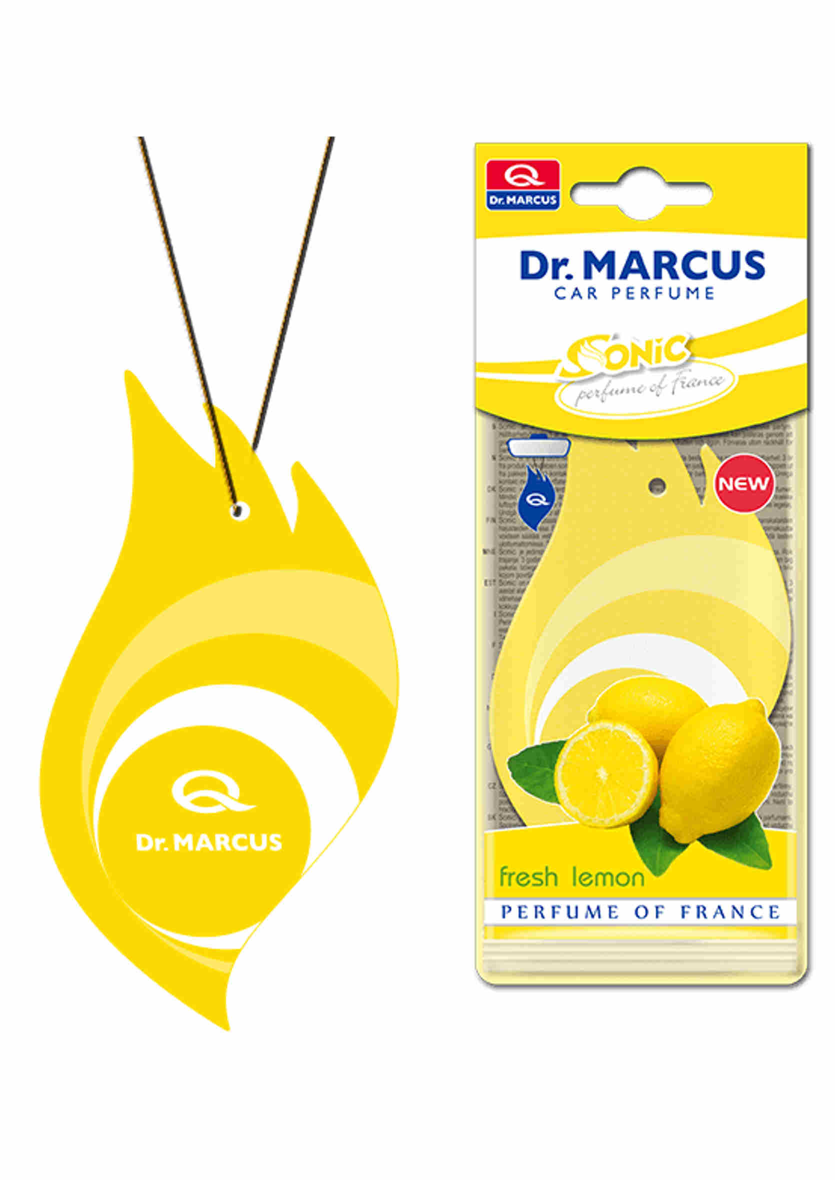 Dr. Marcus Sonic Fresh Lemon Listek Zapachowy Choinka Cytryna