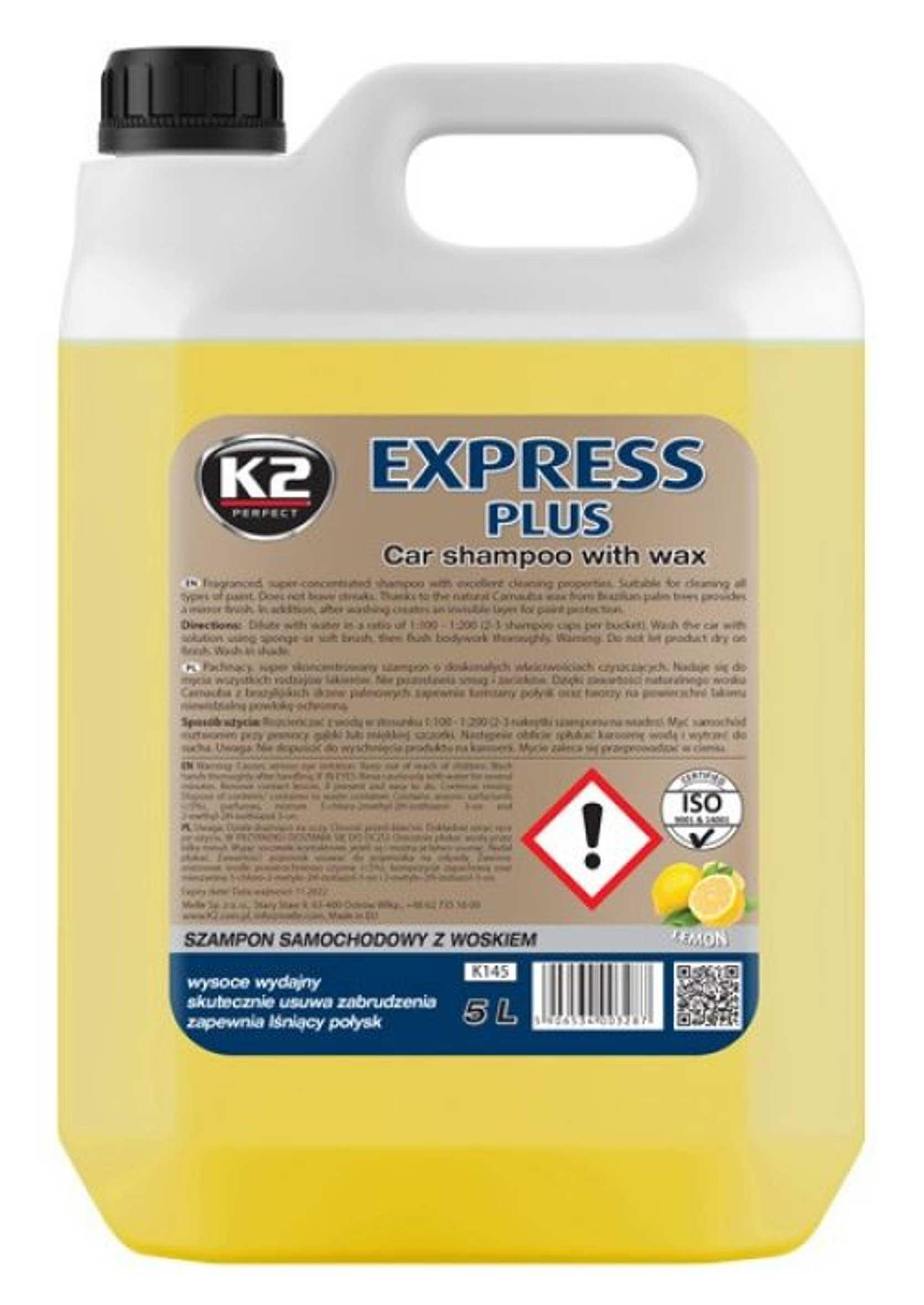 K2 Express Plus 5L Samochodowy szampon z woskiem Carnauba
