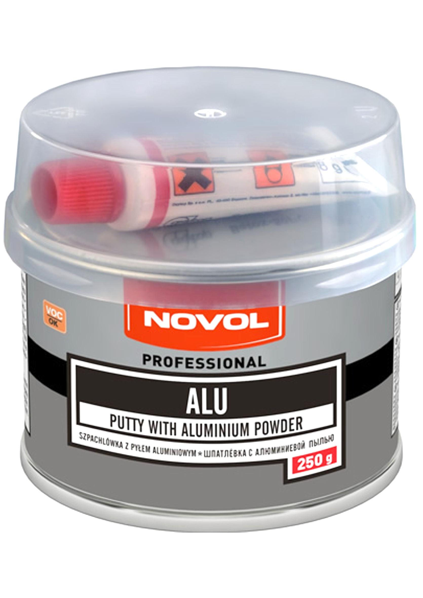 Novol ALU 250g Szpachla z pyłem aluminiowym samochodowa szpachlówka 0,25kg