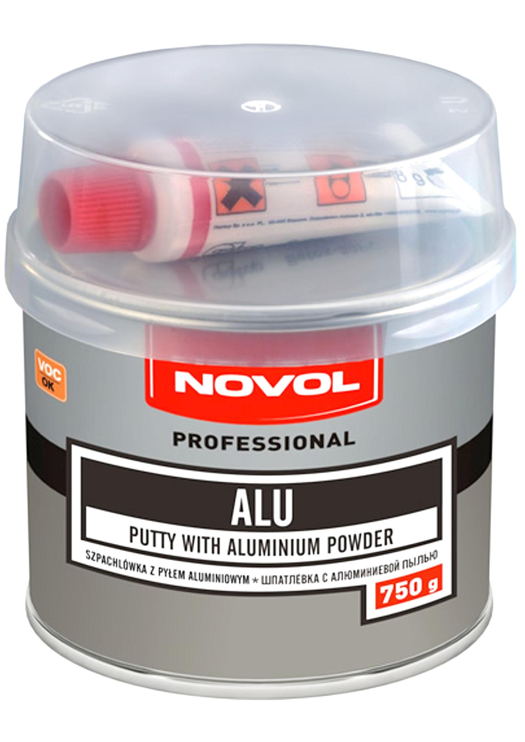Novol ALU 750g Szpachla z pyłem aluminiowym samochodowa szpachlówka 0,75kg