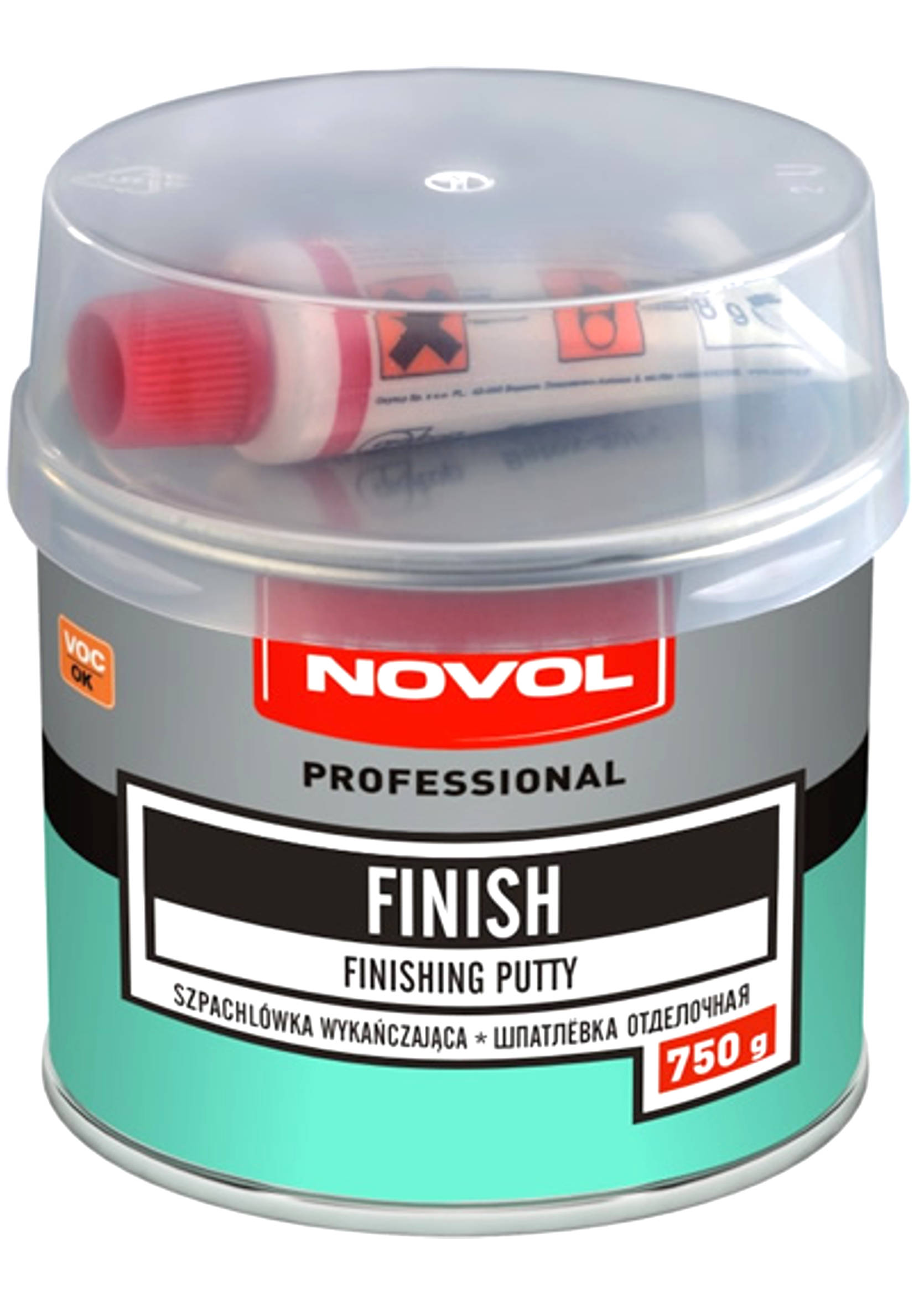 Novol Finish 750g Szpachla wykończeniowa szpachlówka do samochodu 0,75kg